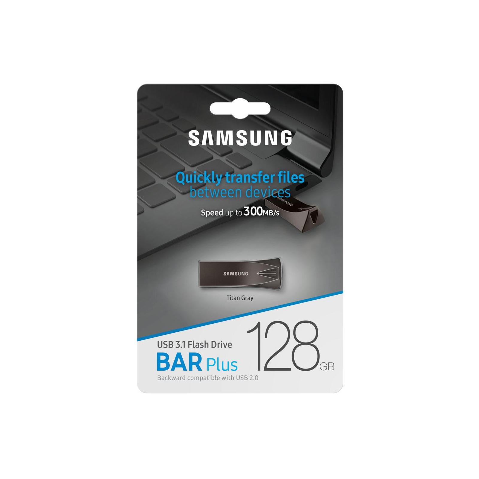 USB флеш накопитель Samsung 32GB Bar Plus Black USB 3.1 (MUF-32BE4/APC) изображение 7