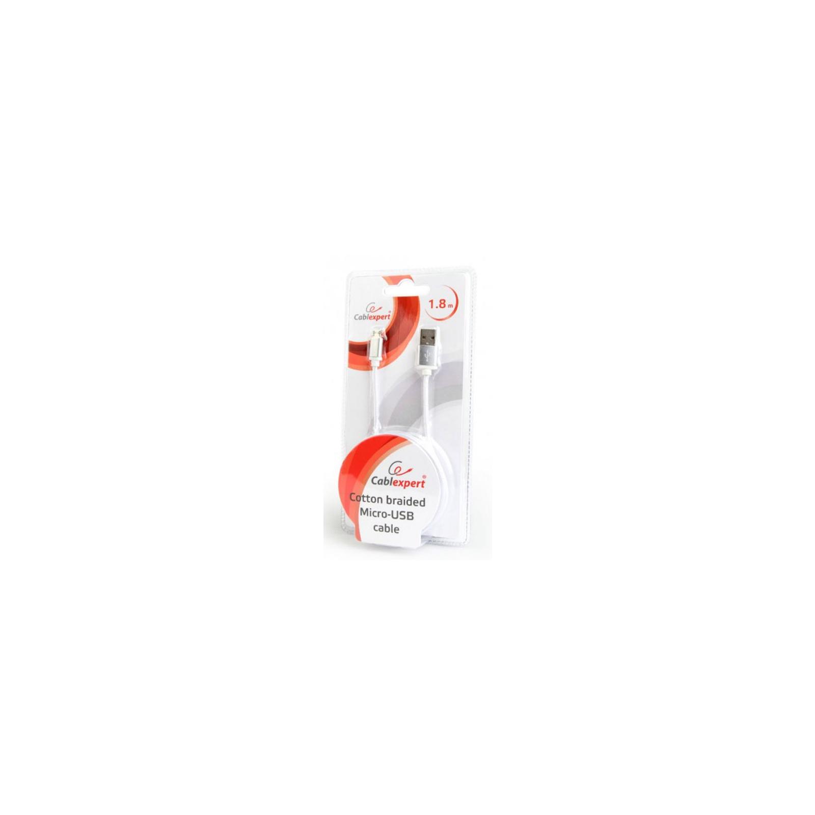 Дата кабель USB 2.0 AM to Micro 5P 1.8m Cablexpert (CCB-mUSB2B-AMBM-6-G) изображение 3
