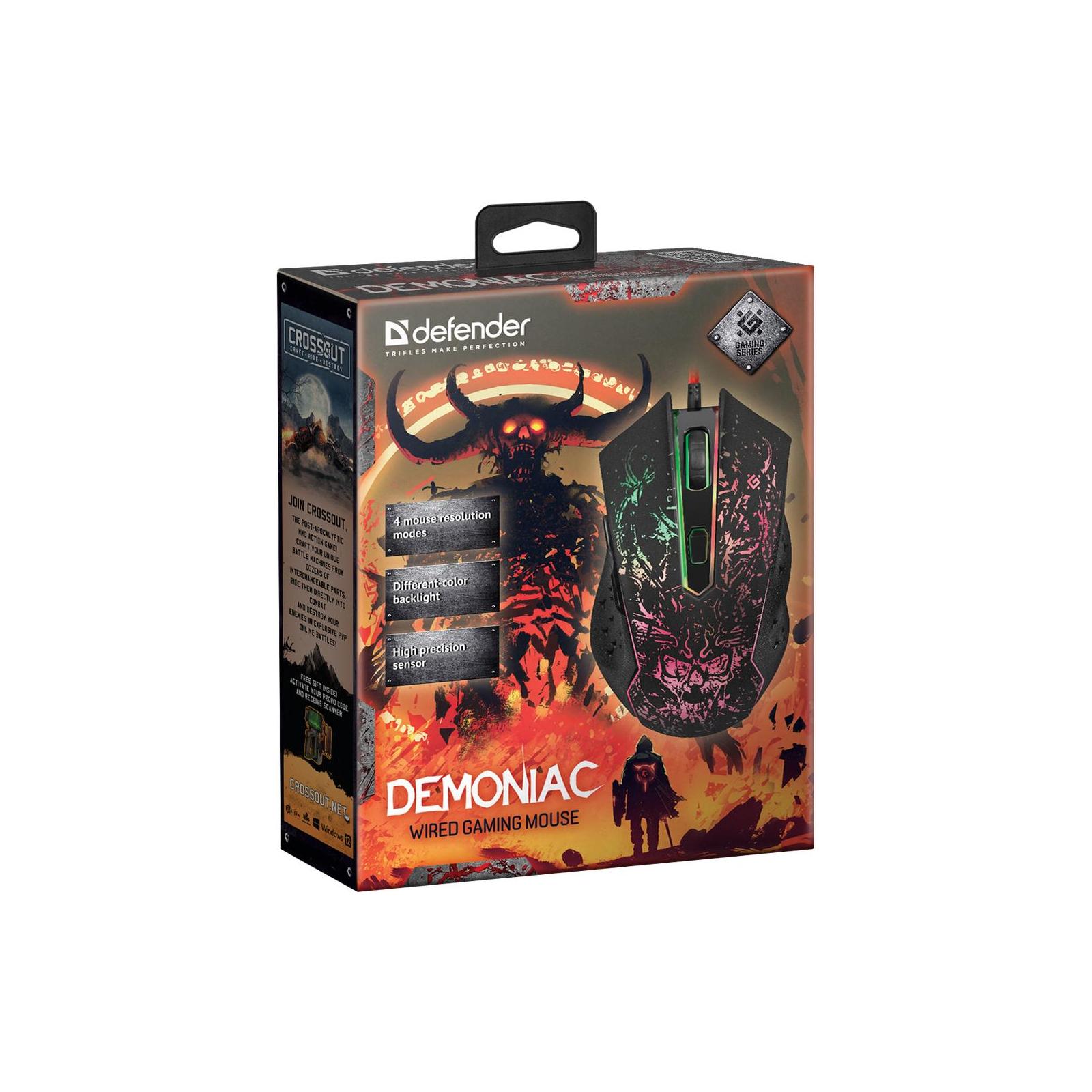 Мишка Defender Demoniac GM-540L Black (52540) ціни в Києві та Українi -  купити в магазині Brain: комп'ютери та гаджети