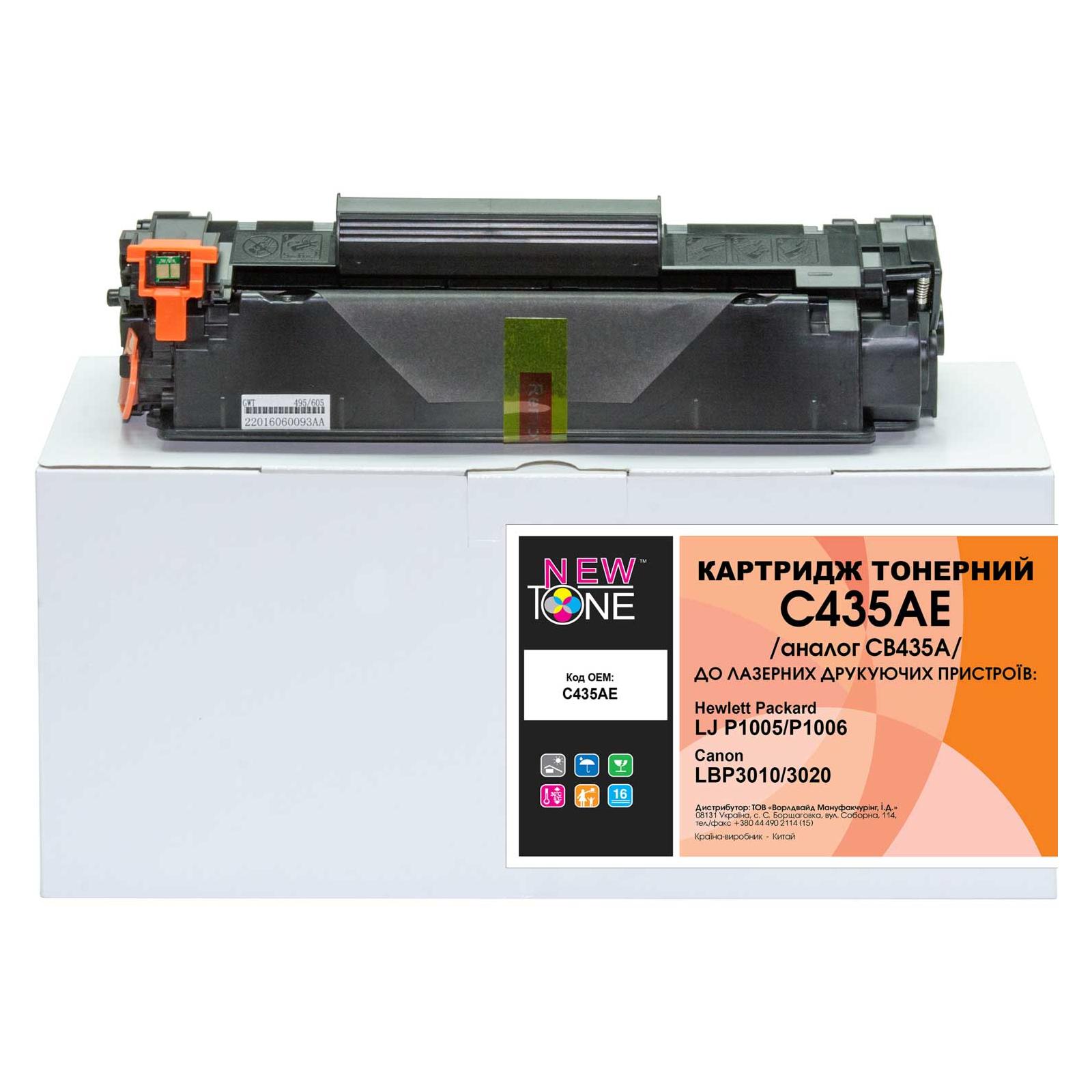 Картридж NewTone для HP LJ P1005/P1006 (C435AE)