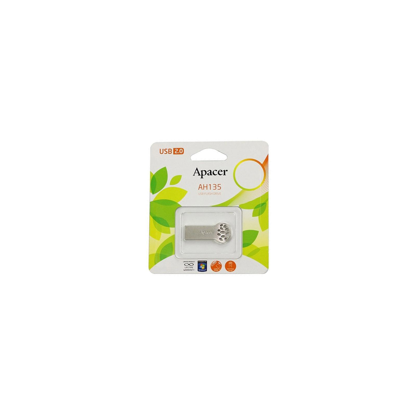USB флеш накопитель 16GB AH135 Silver RP USB2.0 Apacer (AP16GAH135S-1) изображение 7