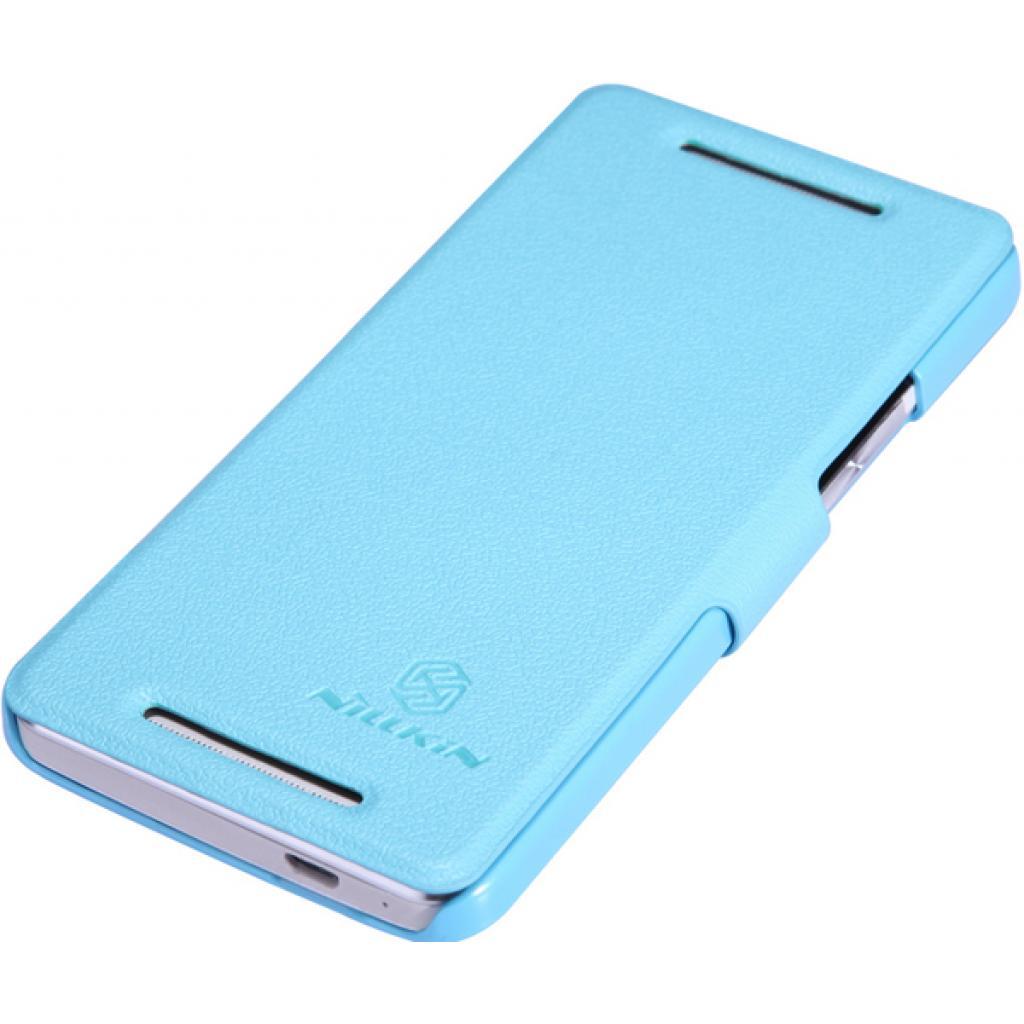 Чехол для моб. телефона NILLKIN для HTC ONE Dual 802w-Fresh/ Leather/Blue (6076837) изображение 2