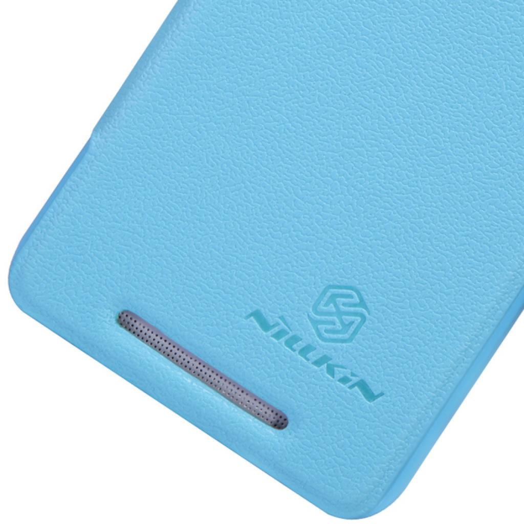 Чехол для моб. телефона NILLKIN для HTC ONE Dual 802w-Fresh/ Leather/Blue (6076837) изображение 4