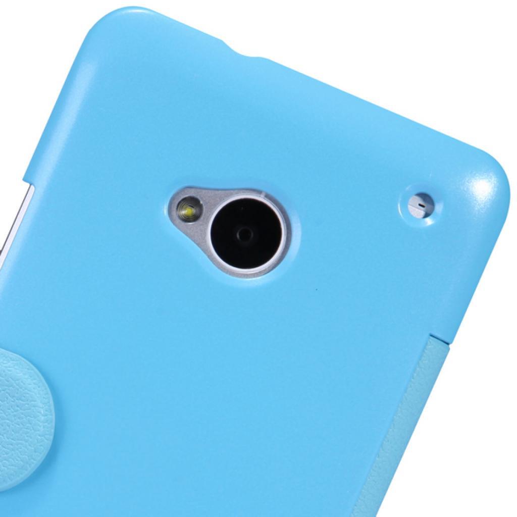 Чехол для моб. телефона NILLKIN для HTC ONE Dual 802w-Fresh/ Leather/Blue (6076837) изображение 5