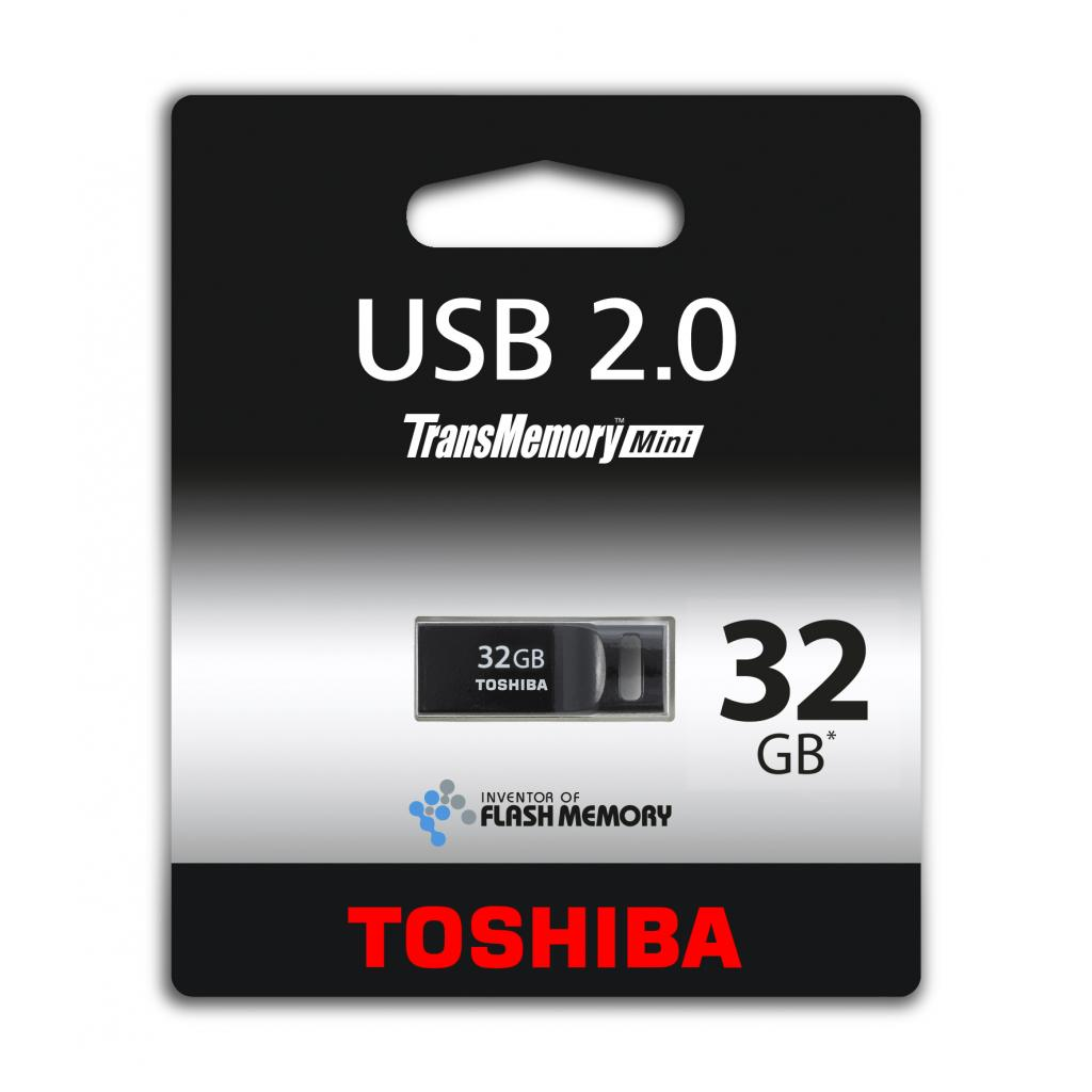 USB флеш накопитель 32GB USB 2.0 Suruga Black TOSHIBA (THNU32SIPBLACK(BL5)) изображение 2