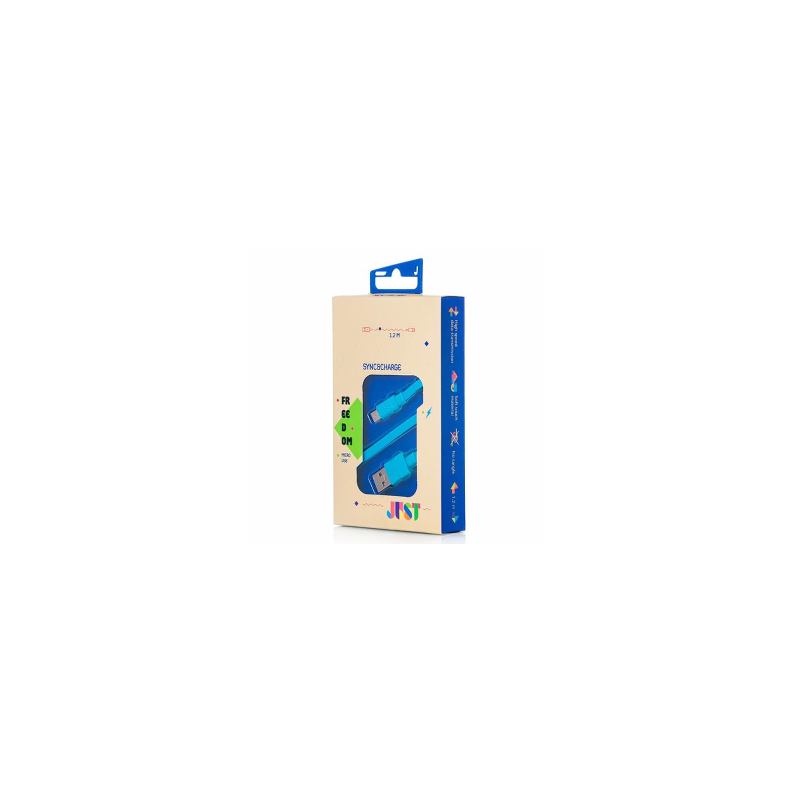 Дата кабель JUST Freedom Micro USB Cable Blue (MCR-FRDM-BL) изображение 3