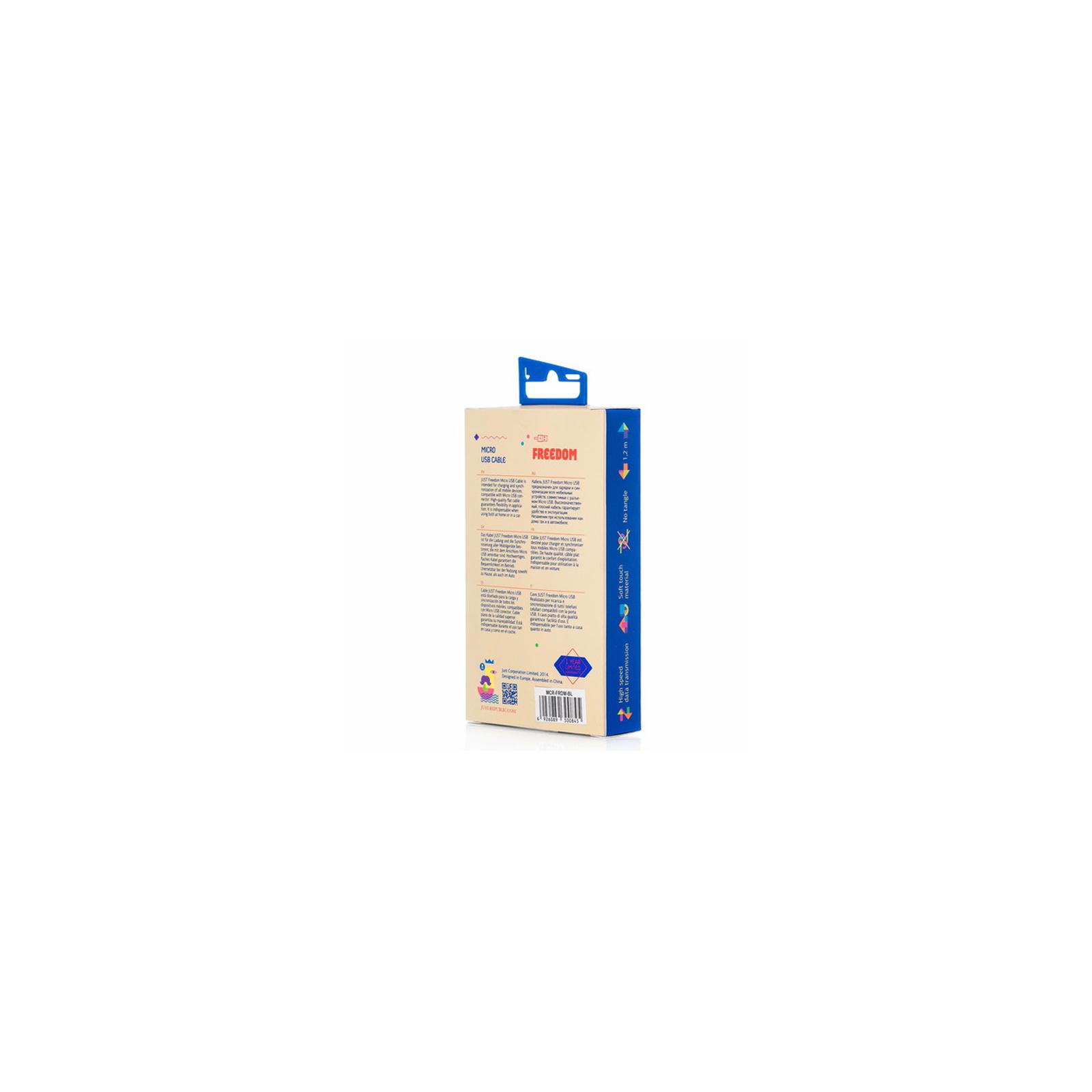 Дата кабель JUST Freedom Micro USB Cable Blue (MCR-FRDM-BL) изображение 4