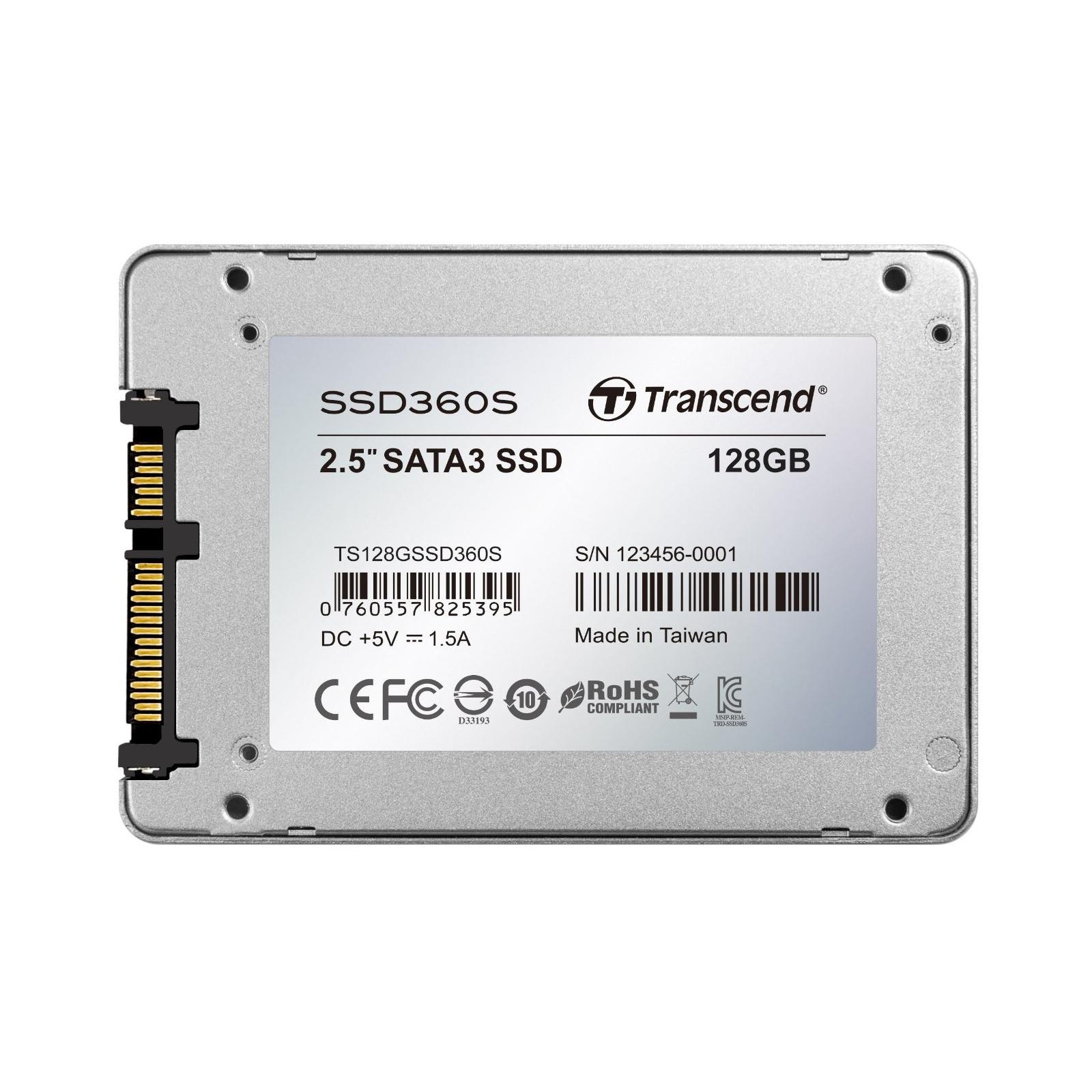 "Накопитель SSD 2.5"" 128GB Transcend (TS128GSSD360S) изображение 2"