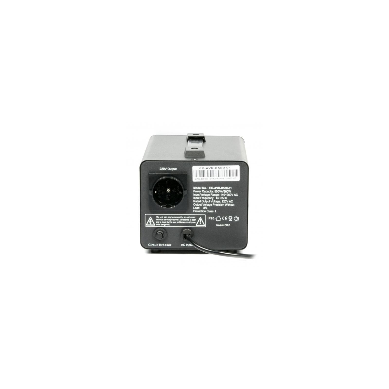 Стабилизатор EnerGenie EG-AVR-D500-01, 300Вт (EG-AVR-D500-01) изображение 2