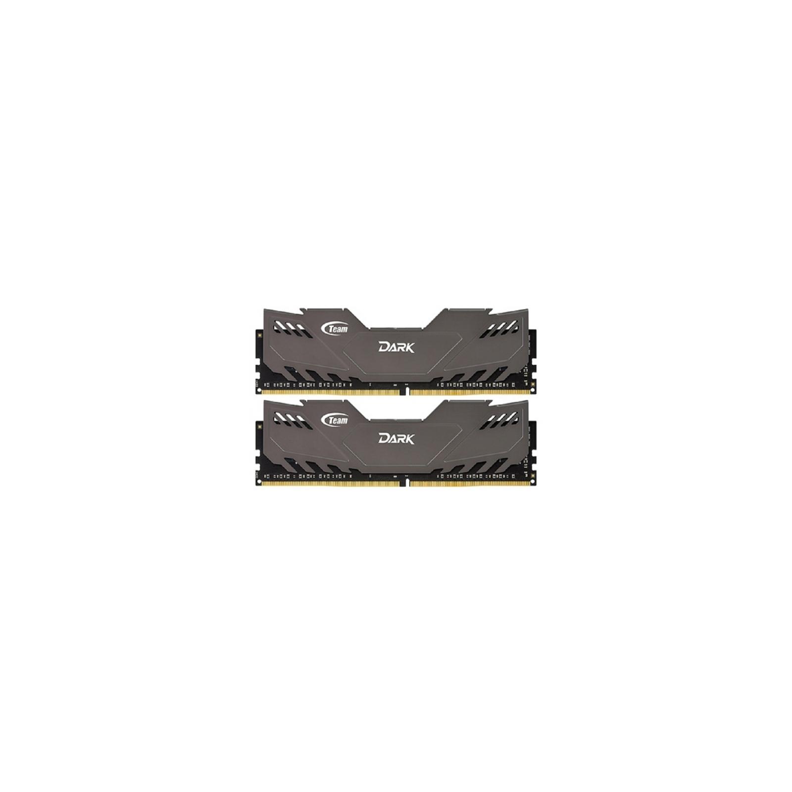 Модуль памяти для компьютера DDR4 16GB (2x8GB) 2800 MHz Dark Gray Team (TDGED416G2800HC16ADC01)