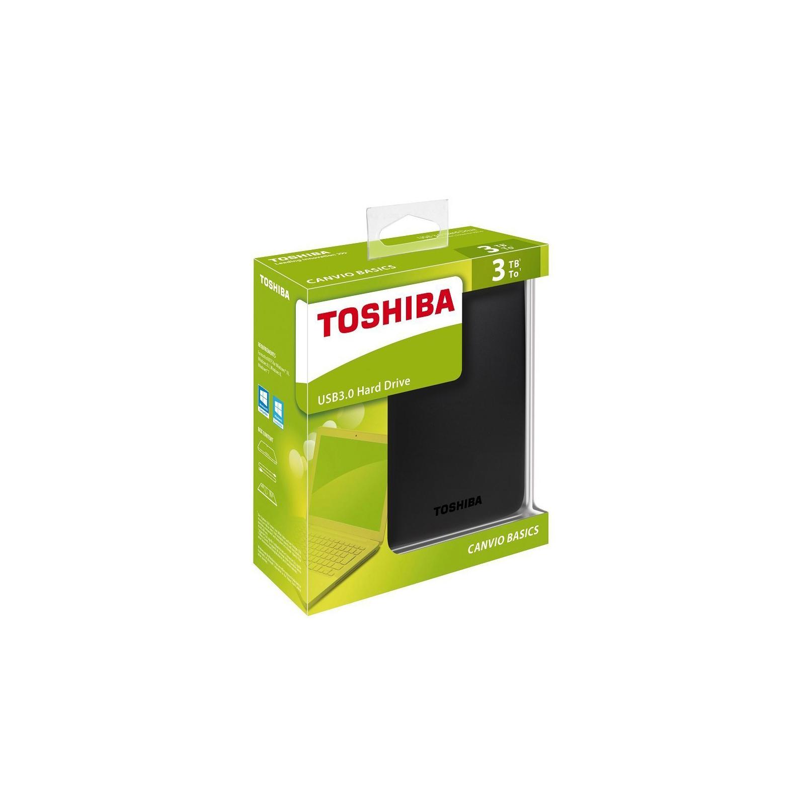 """Внешний жесткий диск 2.5"""" 3TB TOSHIBA (HDTB330EK3CA) изображение 6"""