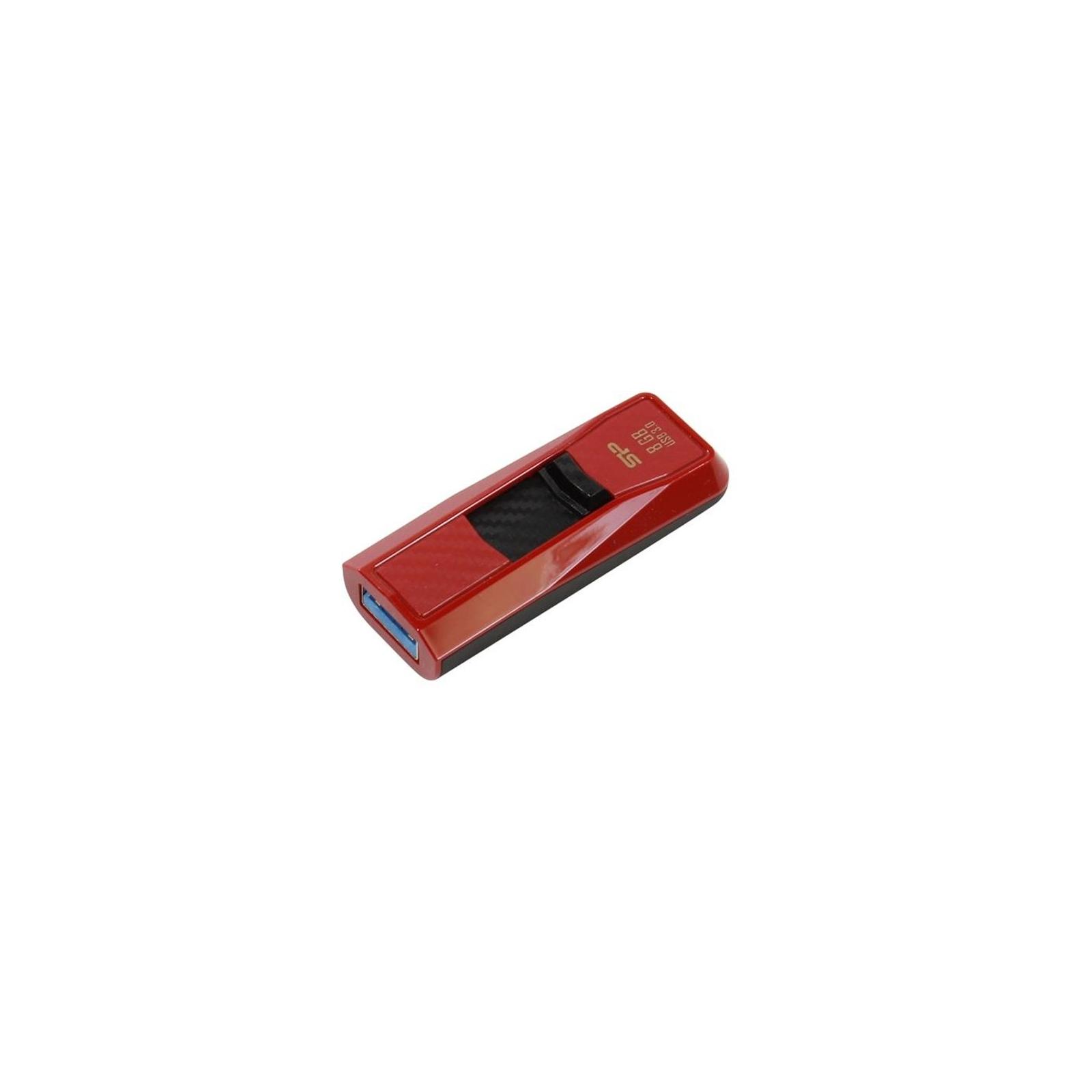 USB флеш накопитель Silicon Power 8GB B50 Black USB 3.0 (SP008GBUF3B50V1K) изображение 4