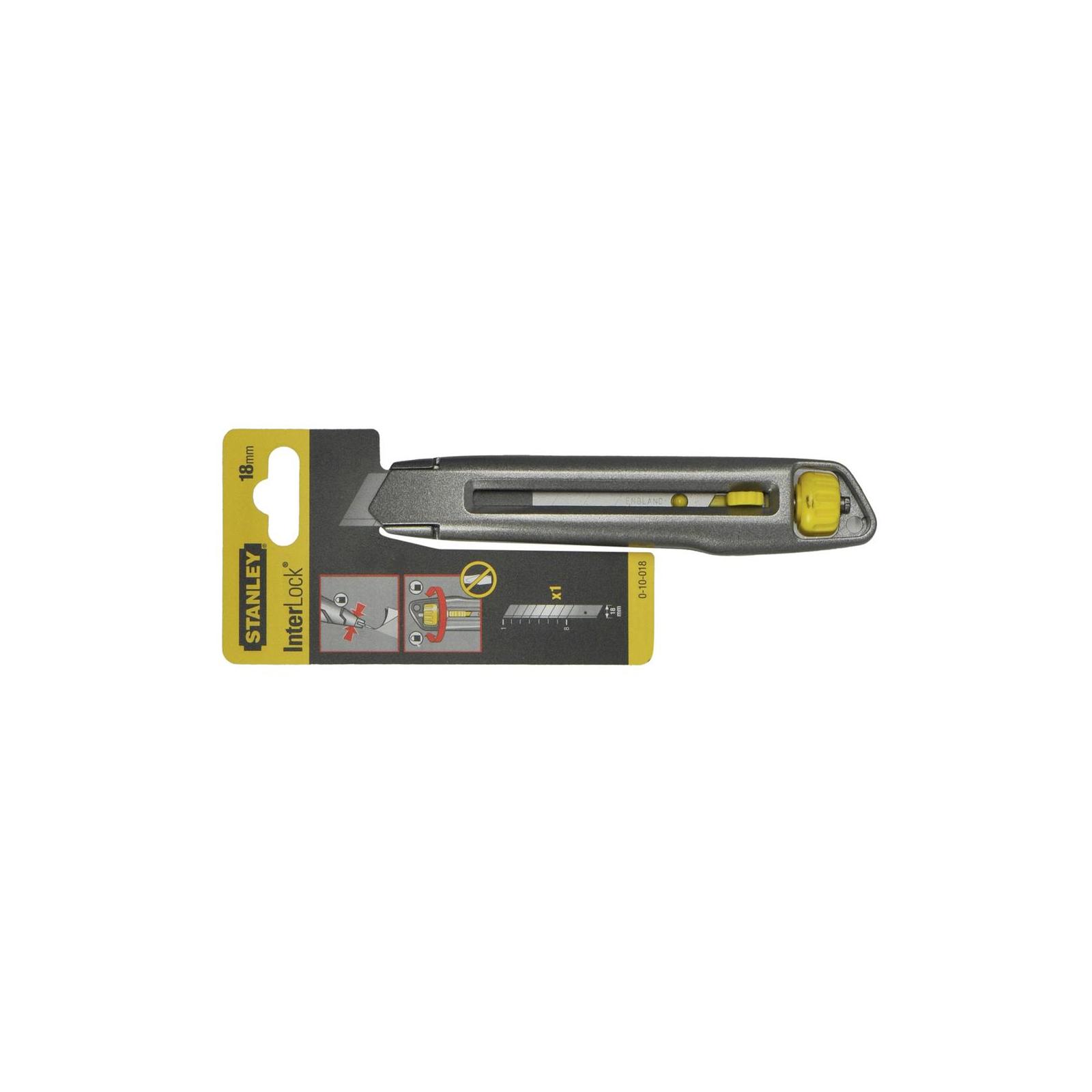Нож монтажный Stanley выдвижное лезвие шириной 18мм, длина ножа 165мм (0-10-018) изображение 2