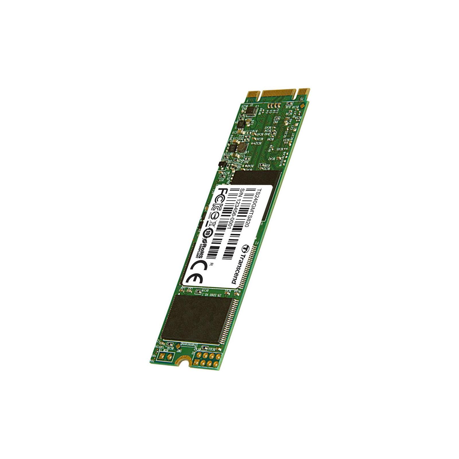 Накопитель SSD M.2 2280 240GB Transcend (TS240GMTS820S) изображение 3
