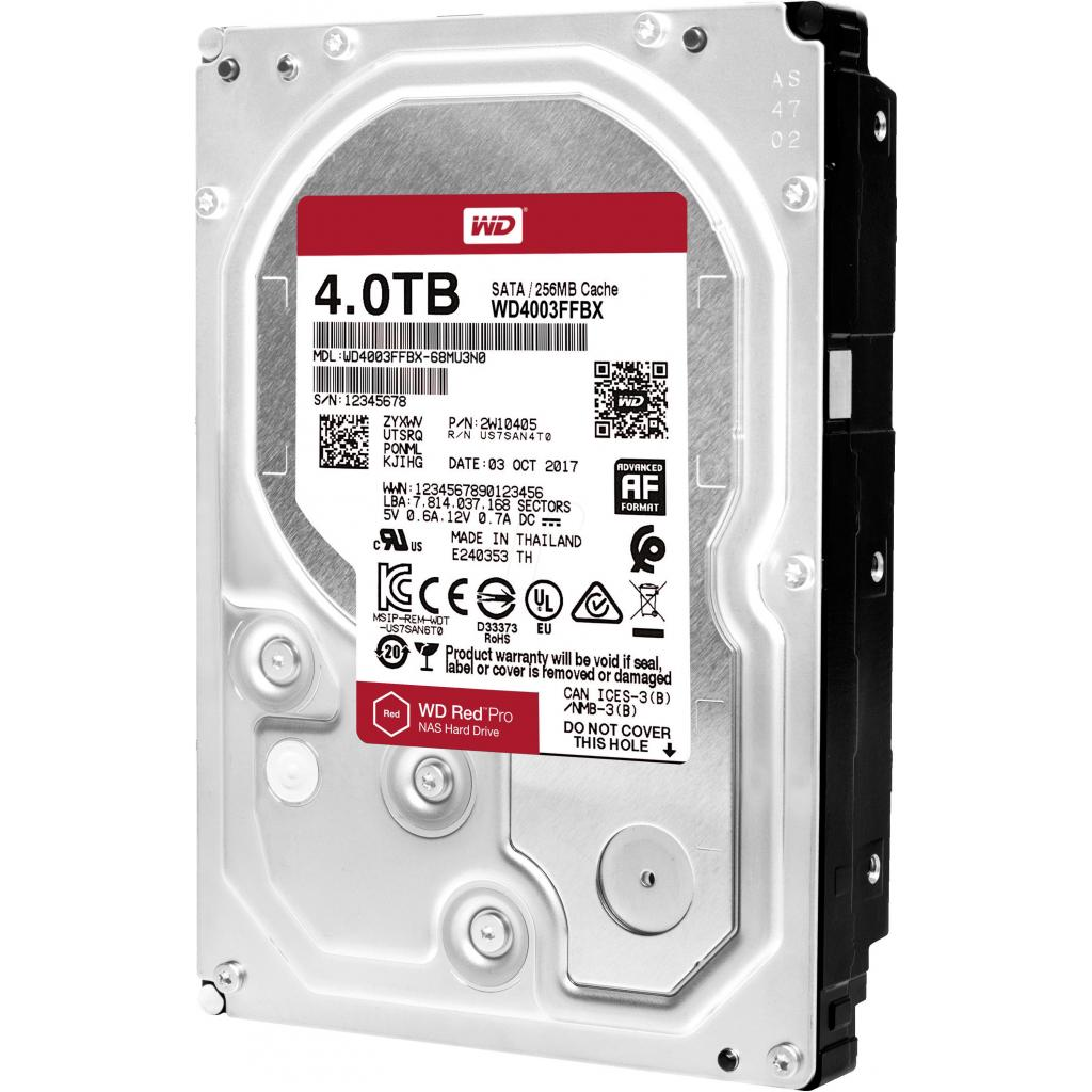"""Жесткий диск 3.5"""" 4TB WD (WD4003FFBX) изображение 3"""