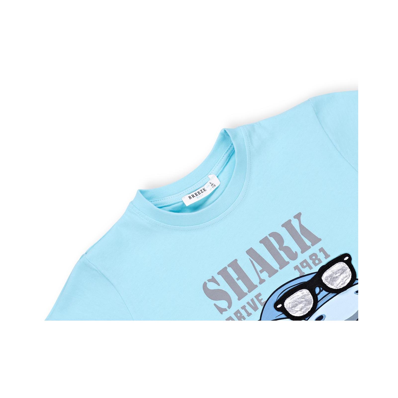 Набор детской одежды Breeze с акулой в очках (10931-98B-beige) изображение 7