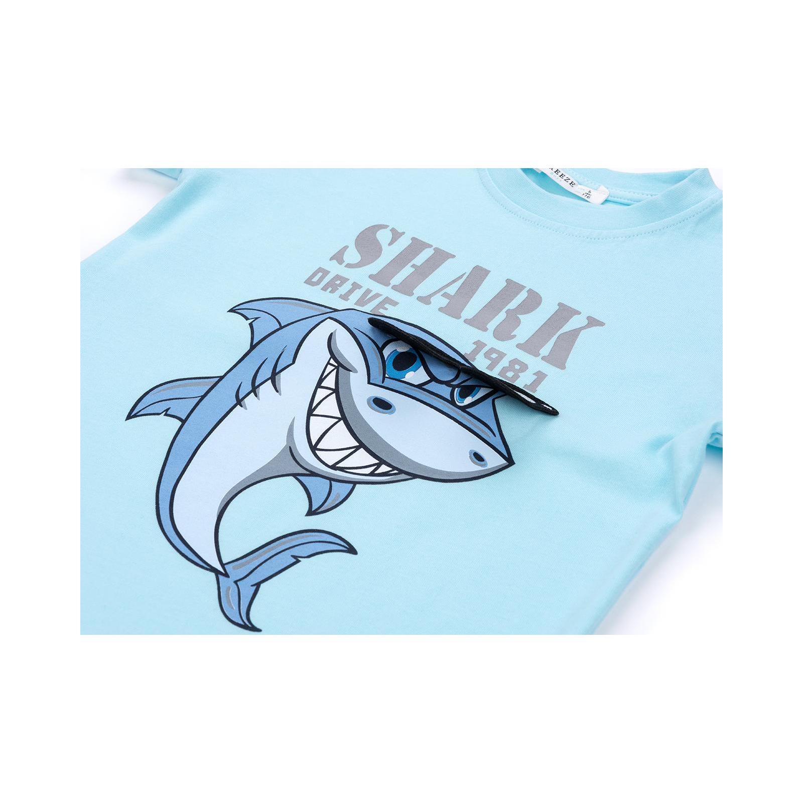 Набор детской одежды Breeze с акулой в очках (10931-98B-beige) изображение 9