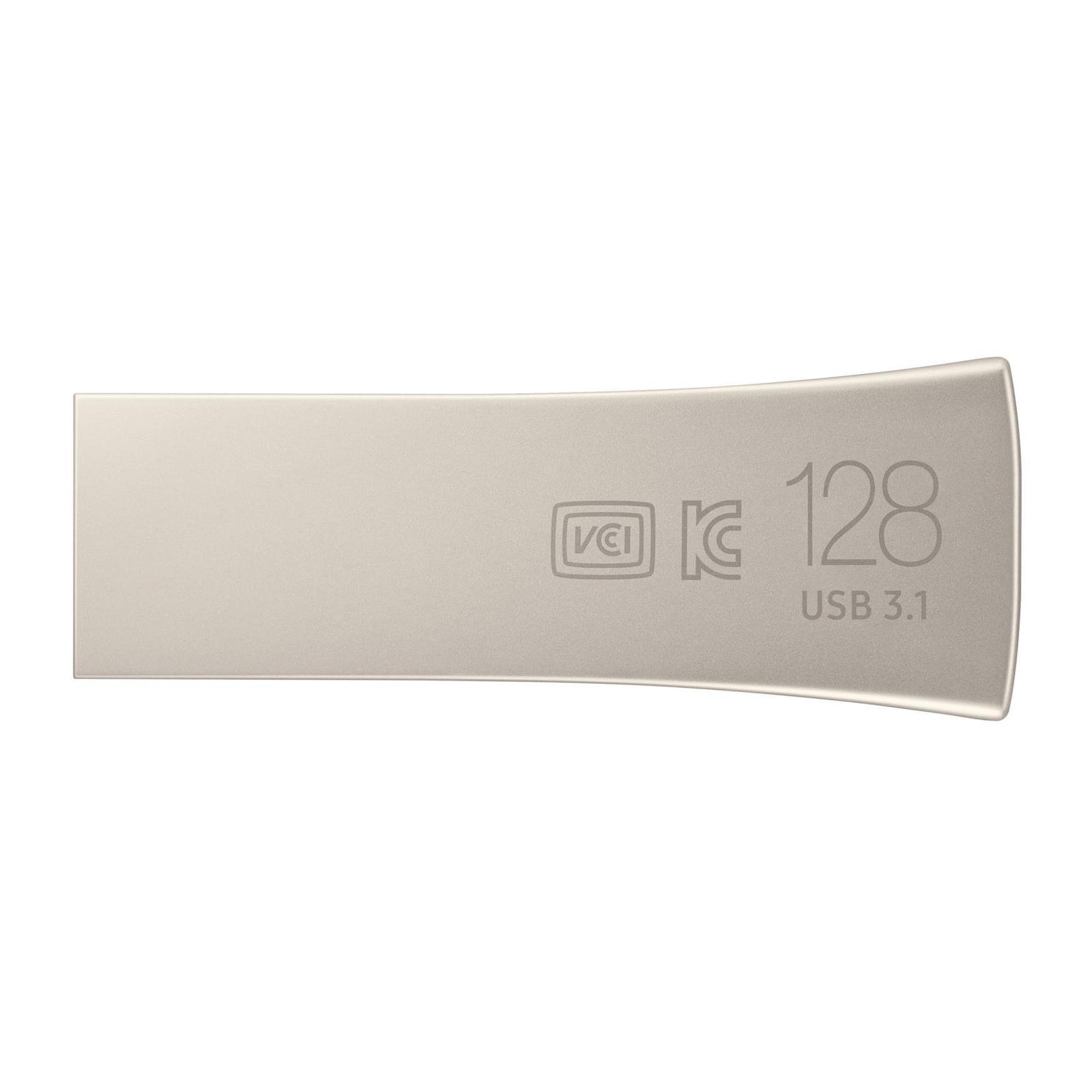 USB флеш накопитель Samsung 64GB Bar Plus Silver USB 3.1 (MUF-64BE3/APC) изображение 2