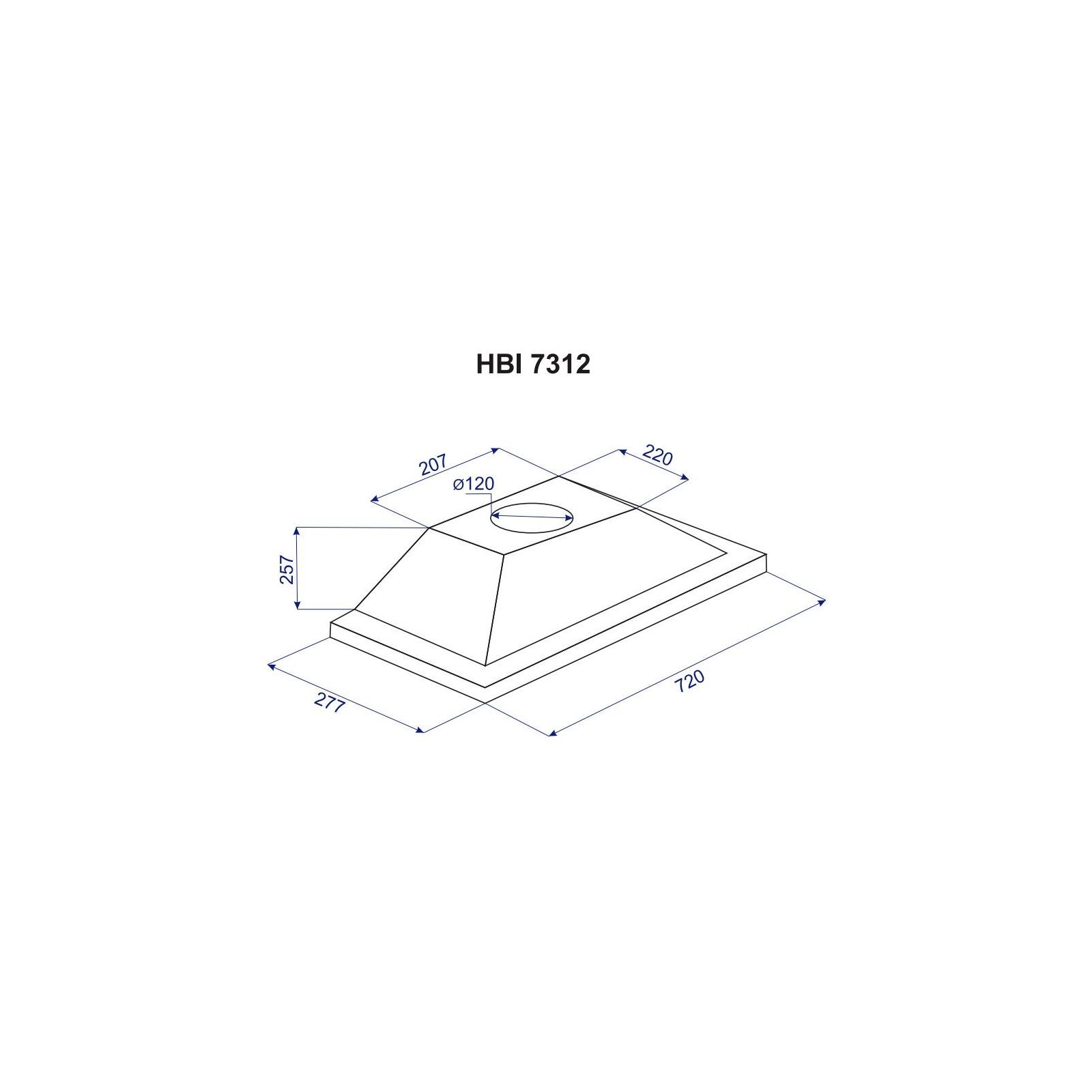 Вытяжка кухонная MINOLA HBI 7312 WH LED 750 изображение 4