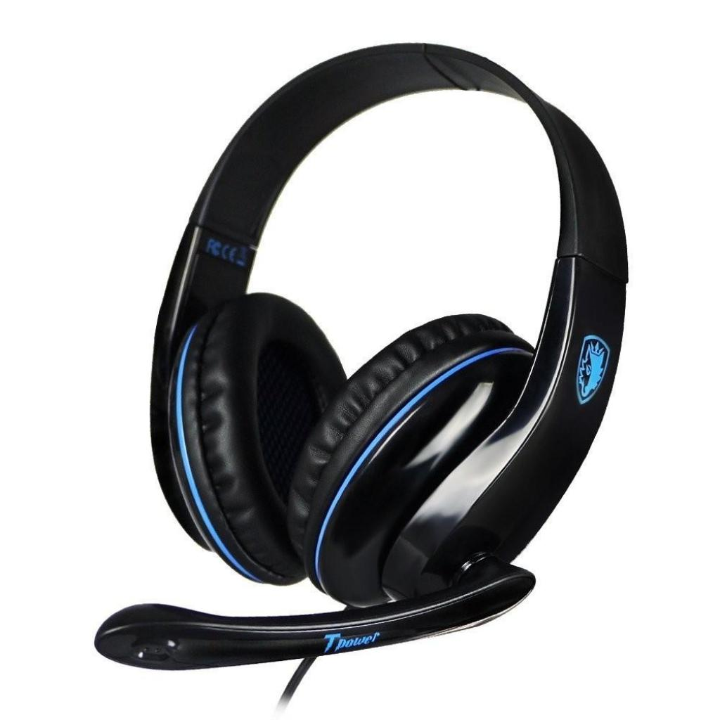 Наушники SADES Tpower Black/Blue (SA701-B-BL) изображение 3