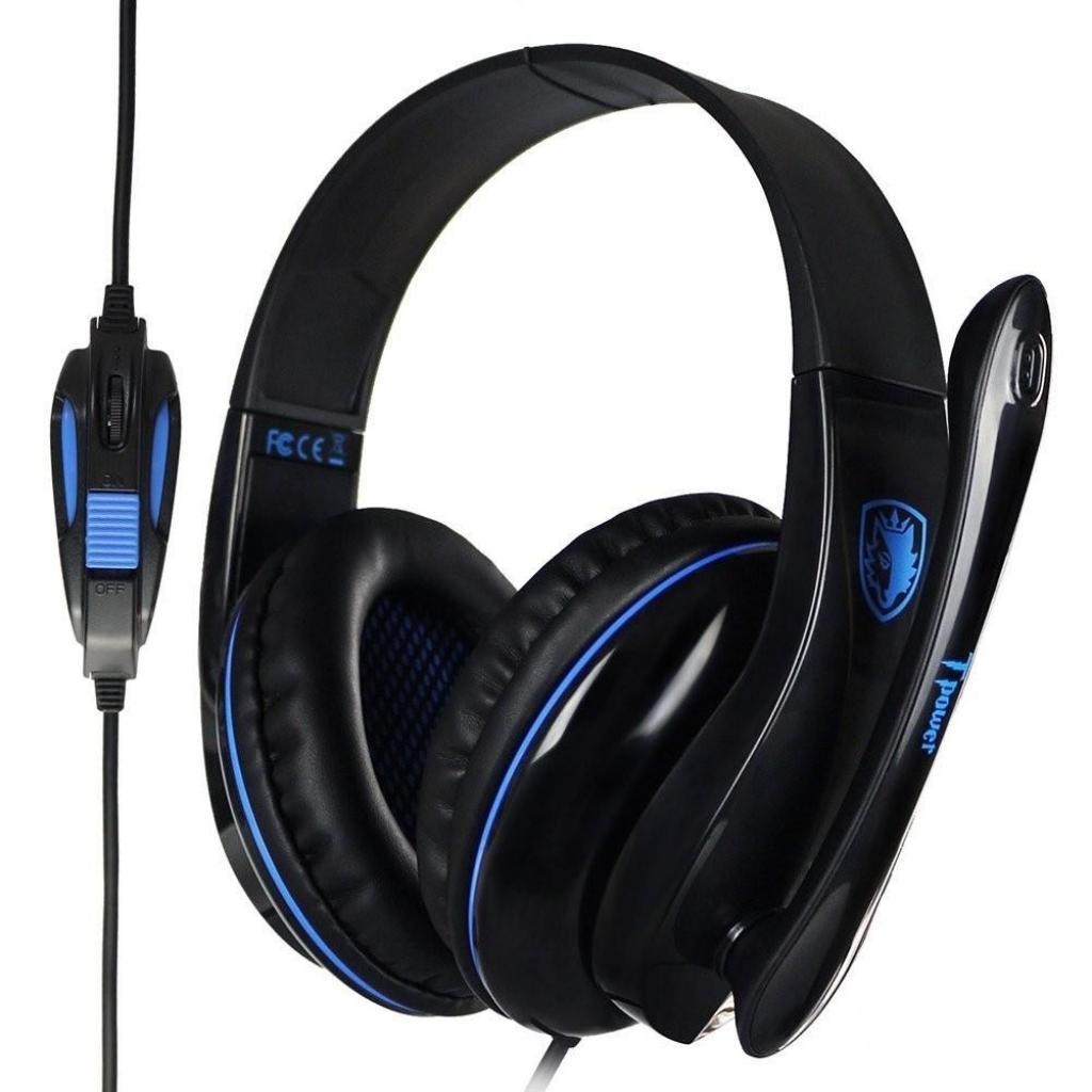 Наушники SADES Tpower Black/Blue (SA701-B-BL) изображение 7