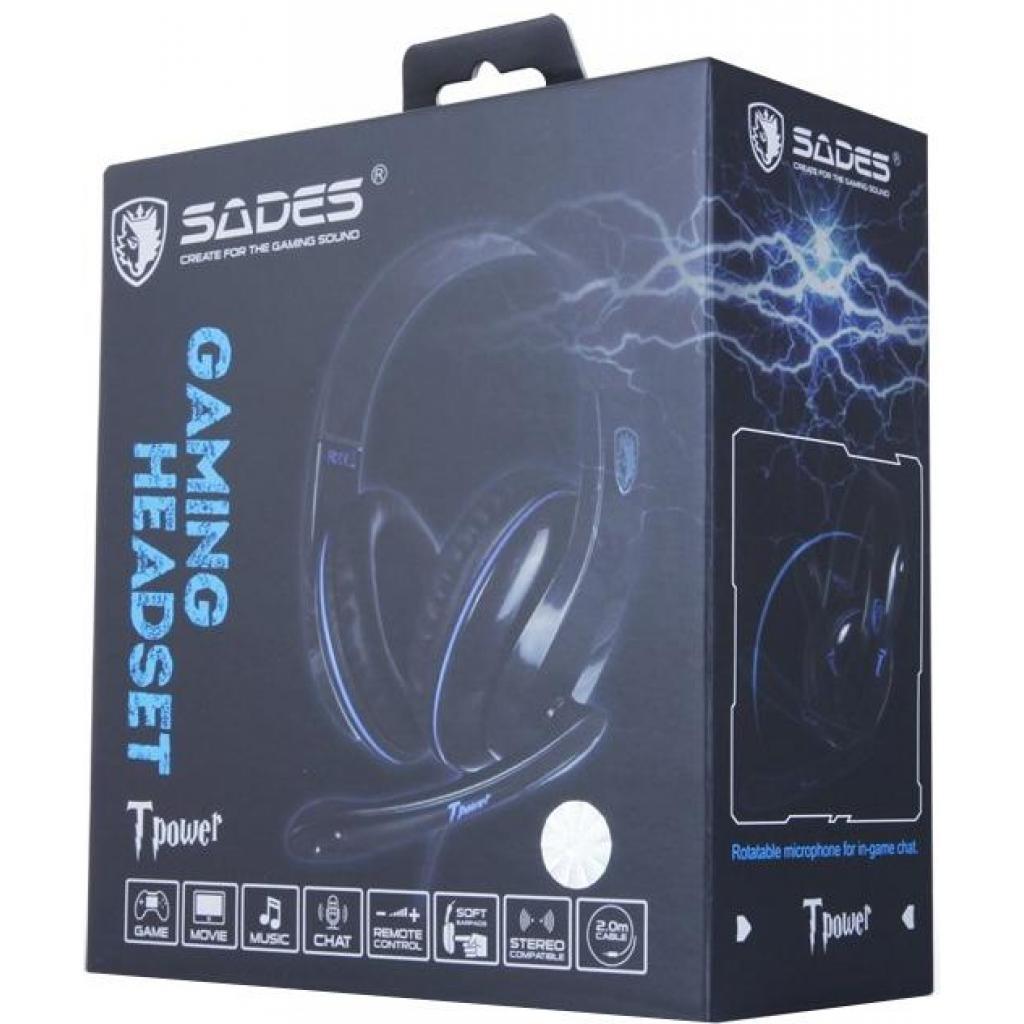 Наушники SADES Tpower Black/Blue (SA701-B-BL) изображение 9