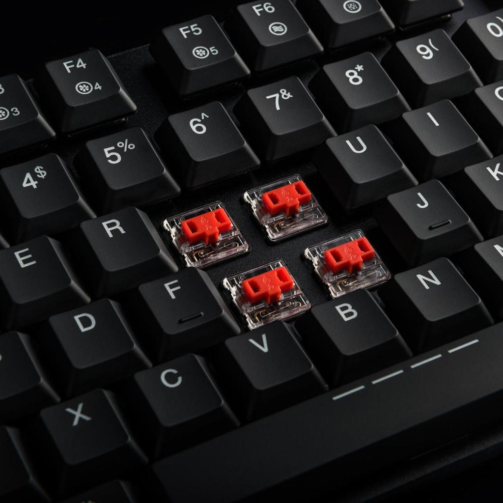 Клавиатура Modecom VolcanoBladeUltraThinRU(KailhLowProfileRedSwitch) (K-MC-BLADE-RED-RU) изображение 7