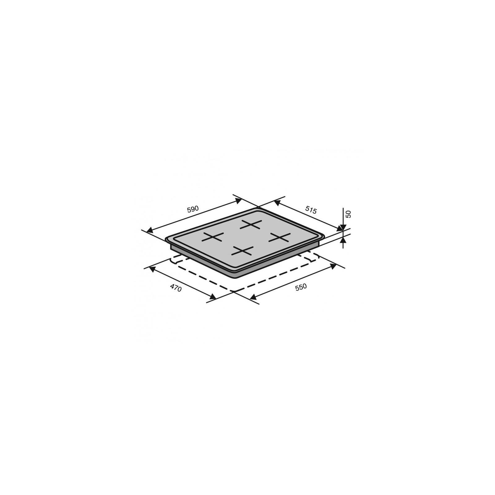 Варочная поверхность VENTOLUX HSF640-R3G BT (WH) изображение 6