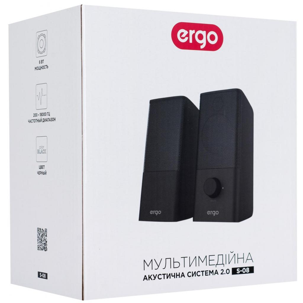 Акустическая система Ergo S-08 USB 2.0 BLACK (S-08) изображение 6