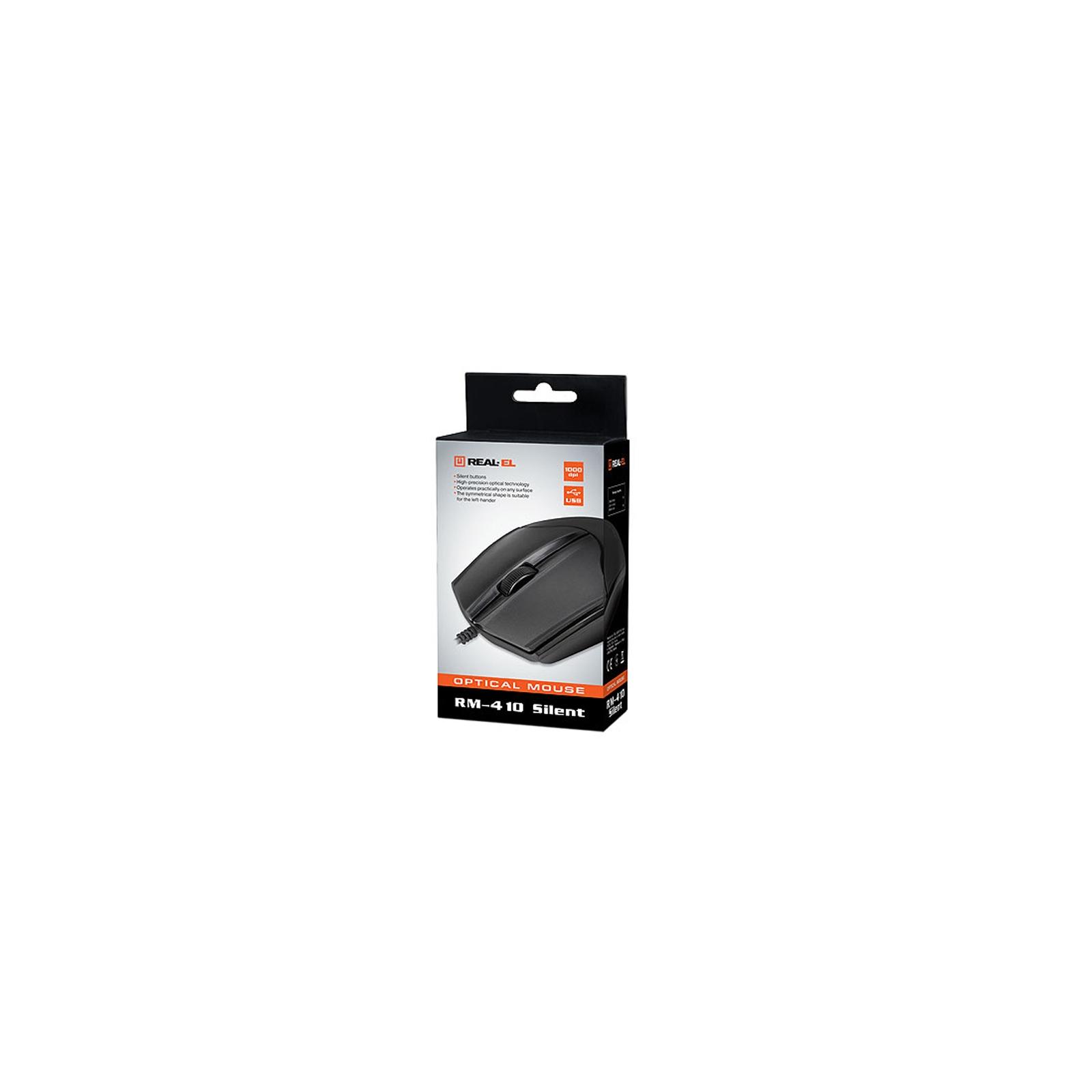 Мышка REAL-EL RM-410 Silent Black изображение 6