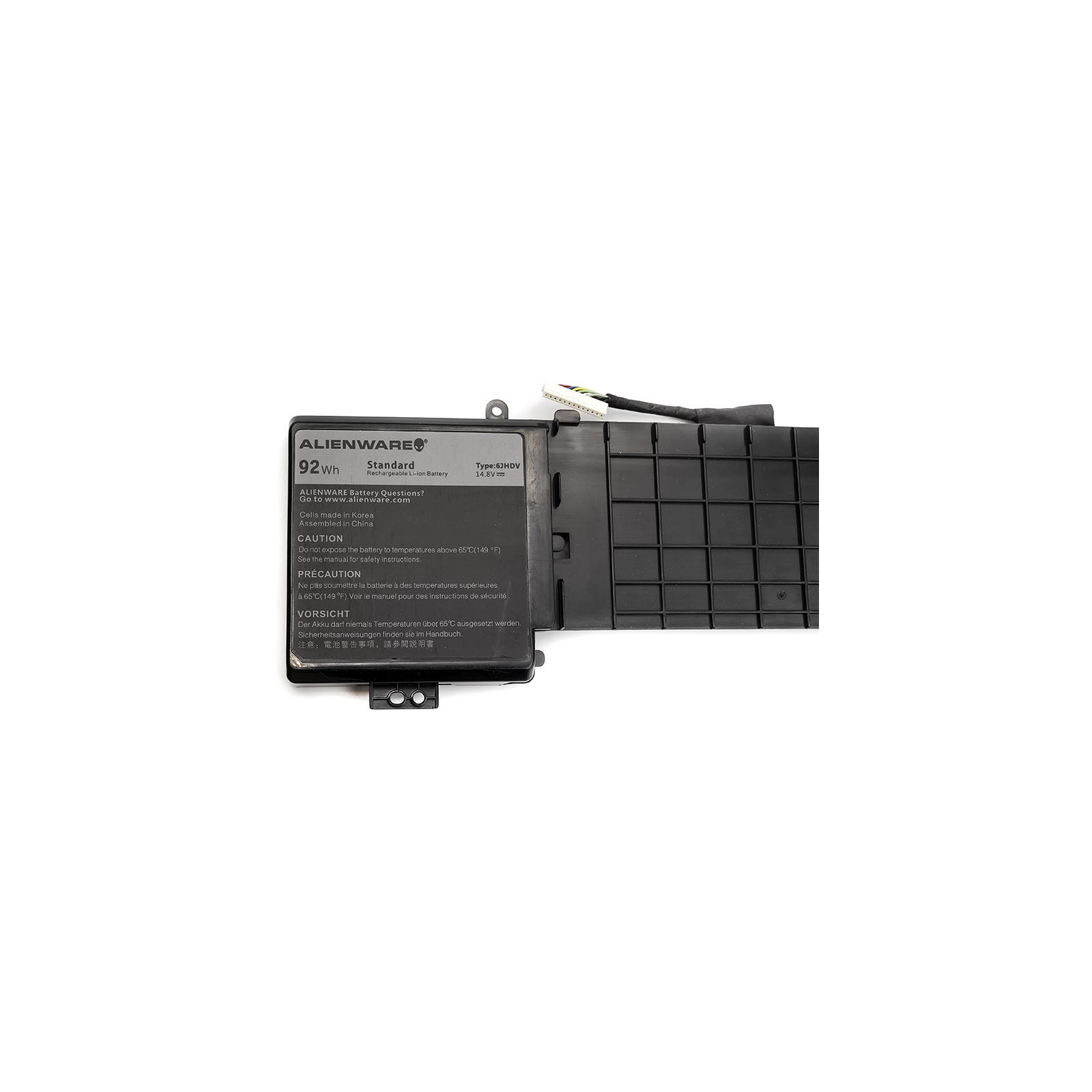 Аккумулятор для ноутбука Dell Alienware 17 R2 (6JHDV) 14.8V 92Wh (NB441129) изображение 3