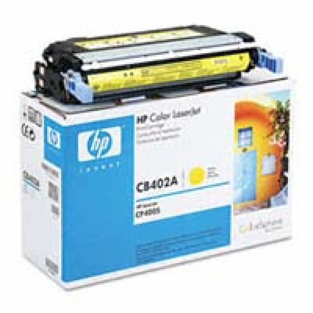 Картридж HP CLJ CP4005 series, yellow (CB402A)