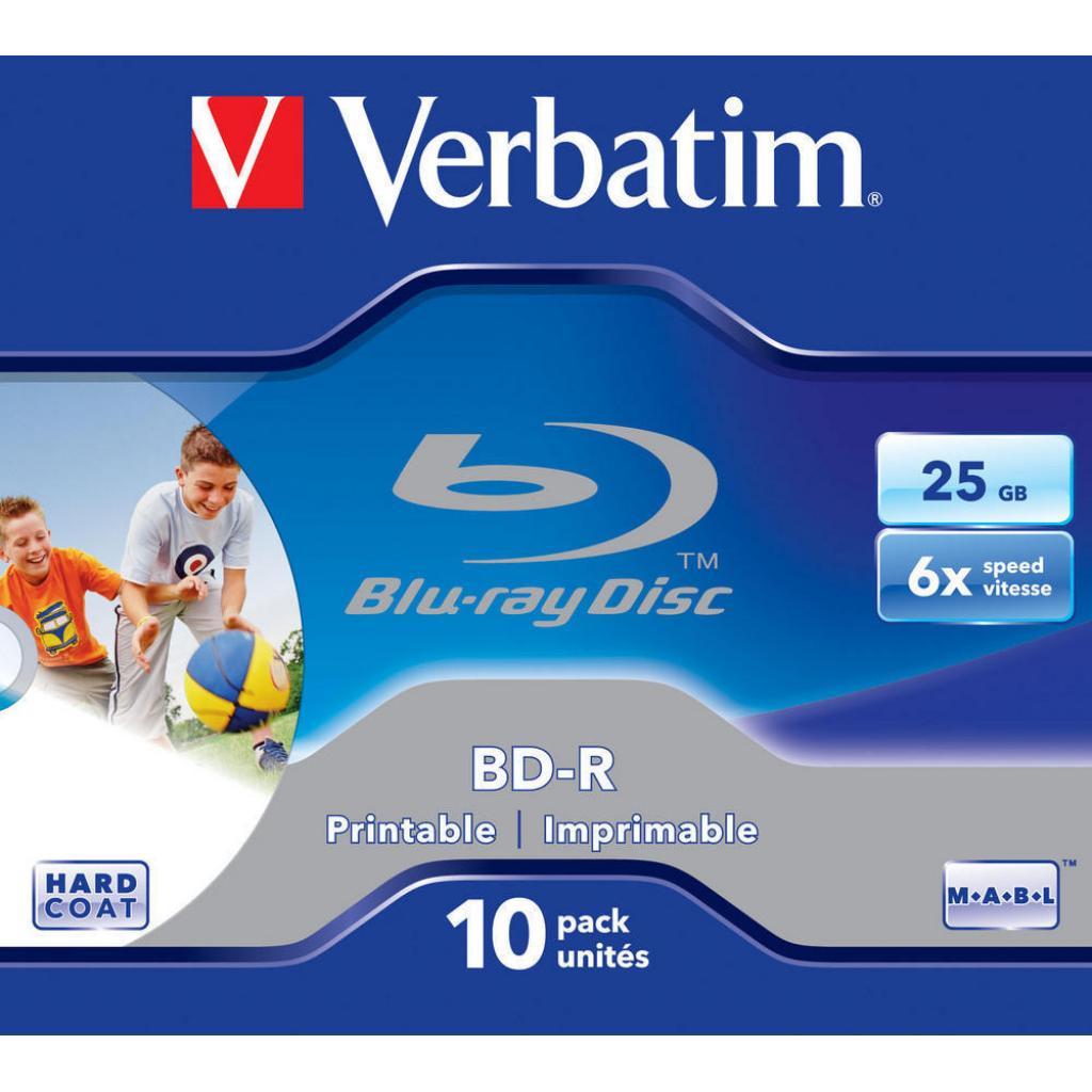 Диск BD Verbatim 25Gb 6x Jewel 10шт Printable (43713) изображение 2