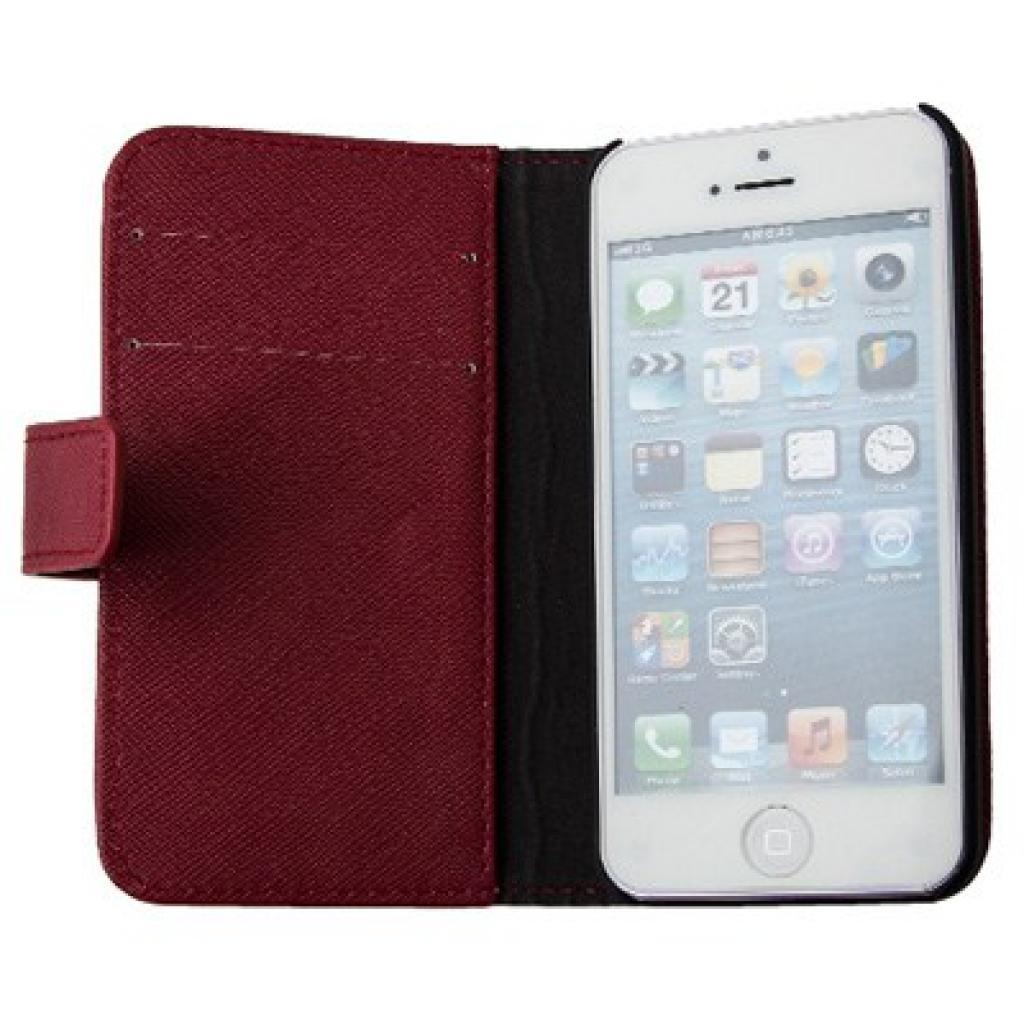 Чехол для моб. телефона Drobak для Apple Iphone 5 /Elegant Wallet Red (210238) изображение 2
