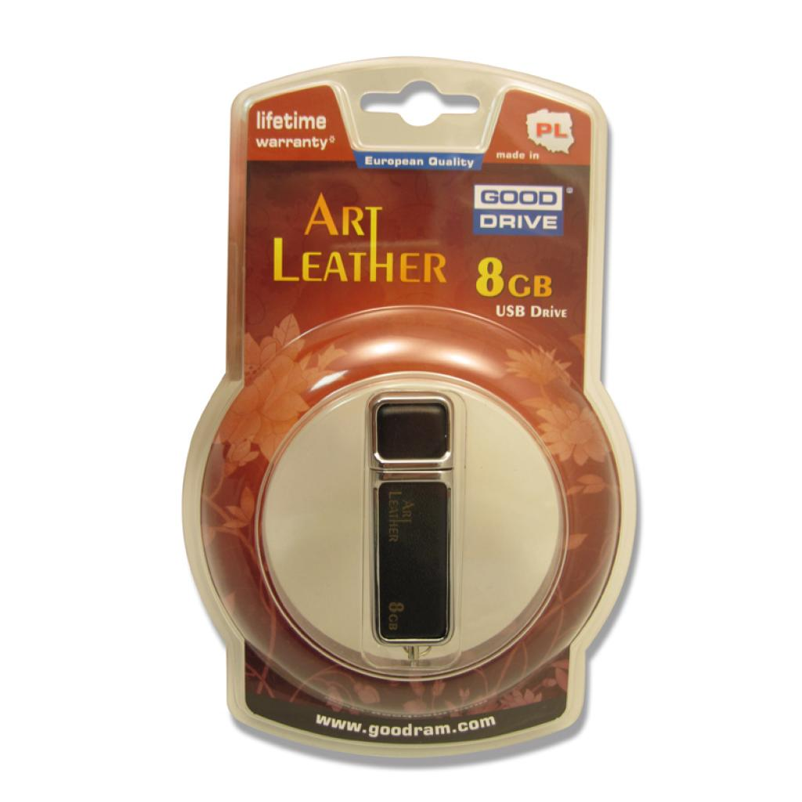 USB флеш накопитель 8GB USB 2.0 Art Leather GOODRAM (PD8GH2GRALKR9) изображение 3