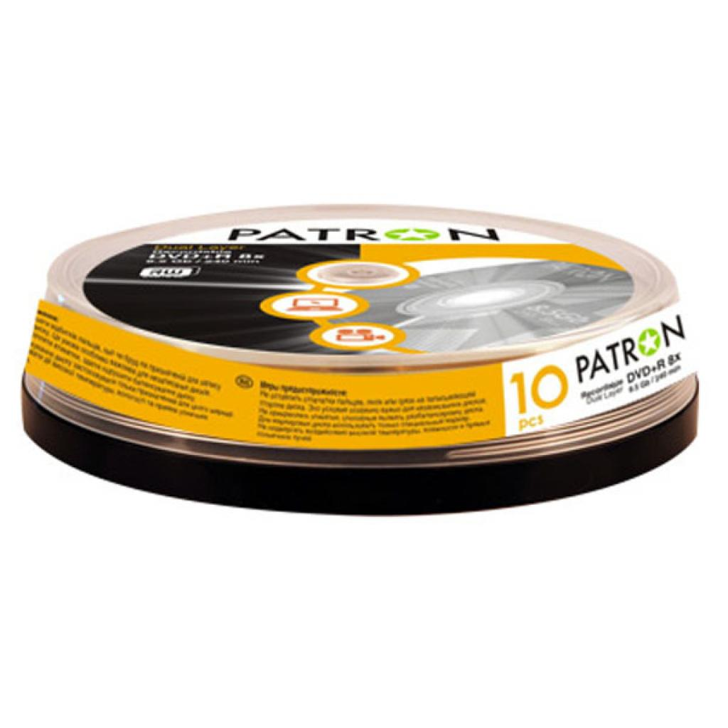 Диск DVD PATRON 4.7Gb 16x Cake box 10шт PRINTABLE (INS-D046/INS-C046)