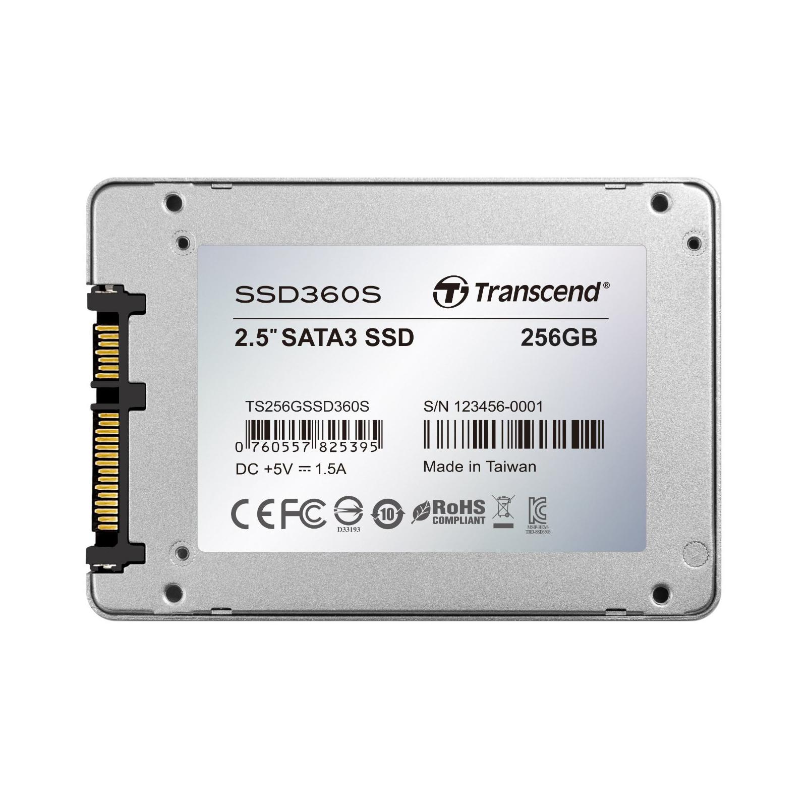 "Накопитель SSD 2.5"" 256GB Transcend (TS256GSSD360S) изображение 2"