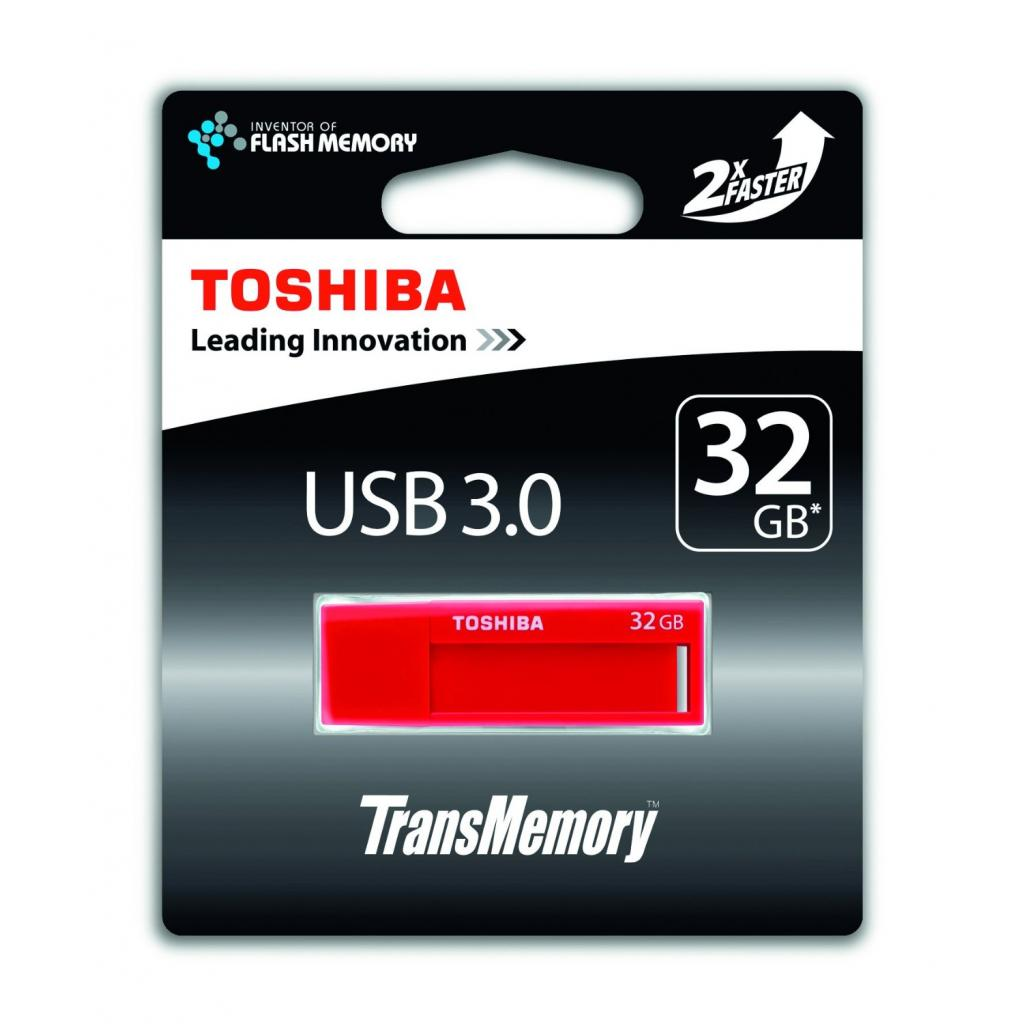 USB флеш накопитель TOSHIBA 32GB Daichi Red USB 3.0 (THNV32DAIRED) изображение 3