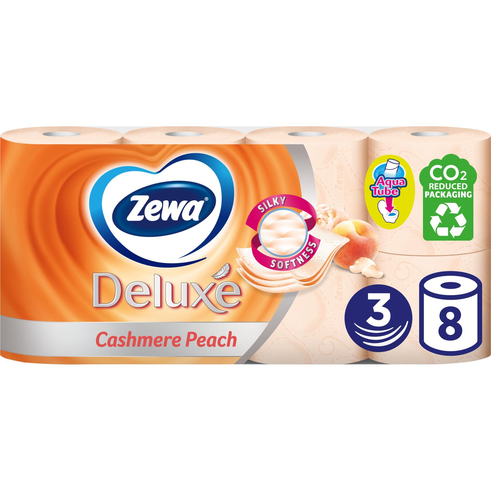Туалетная бумага Zewa Deluxe 3-слойная Персик 8 шт (9011111035721)