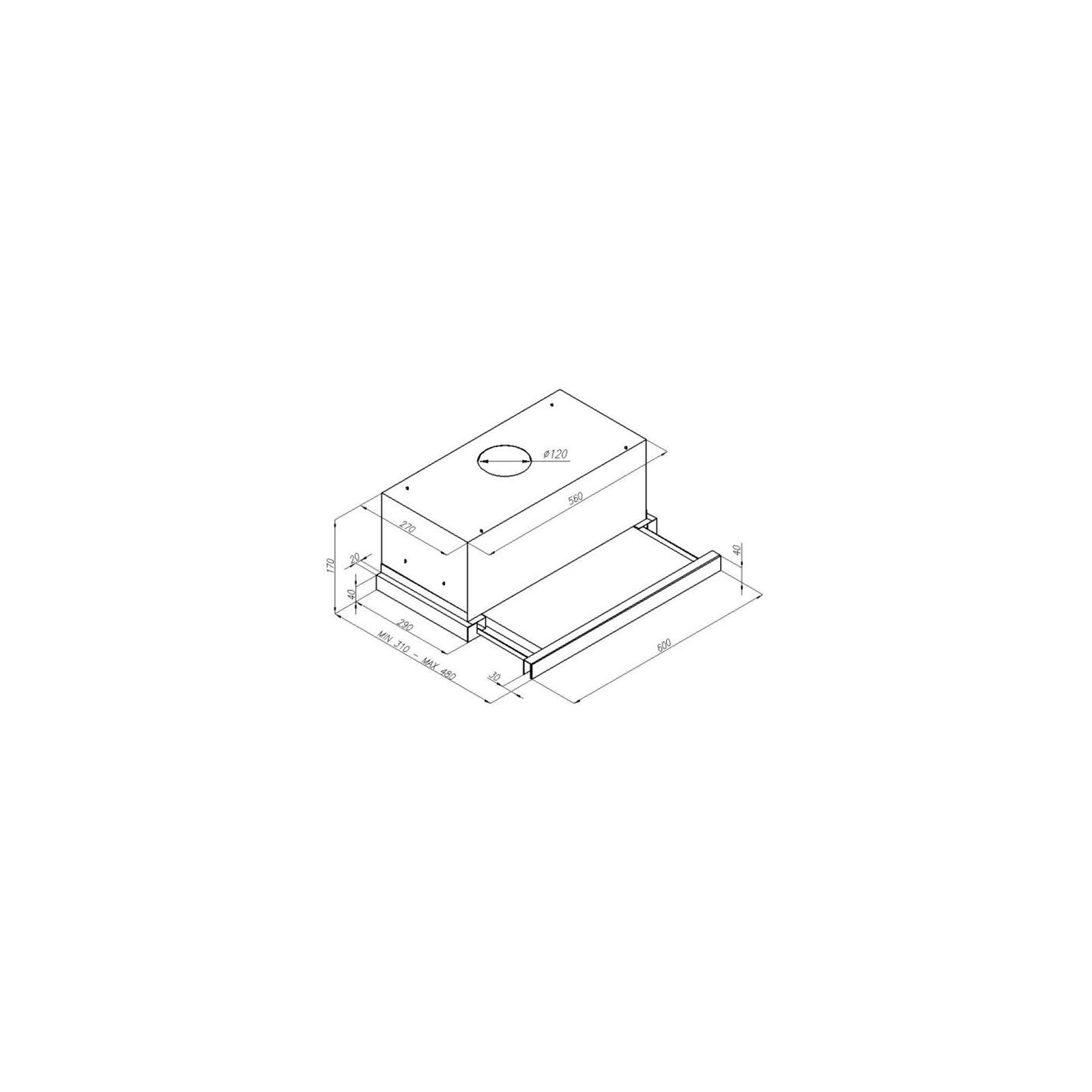 Вытяжка кухонная PERFELLI TL 6410 I изображение 7