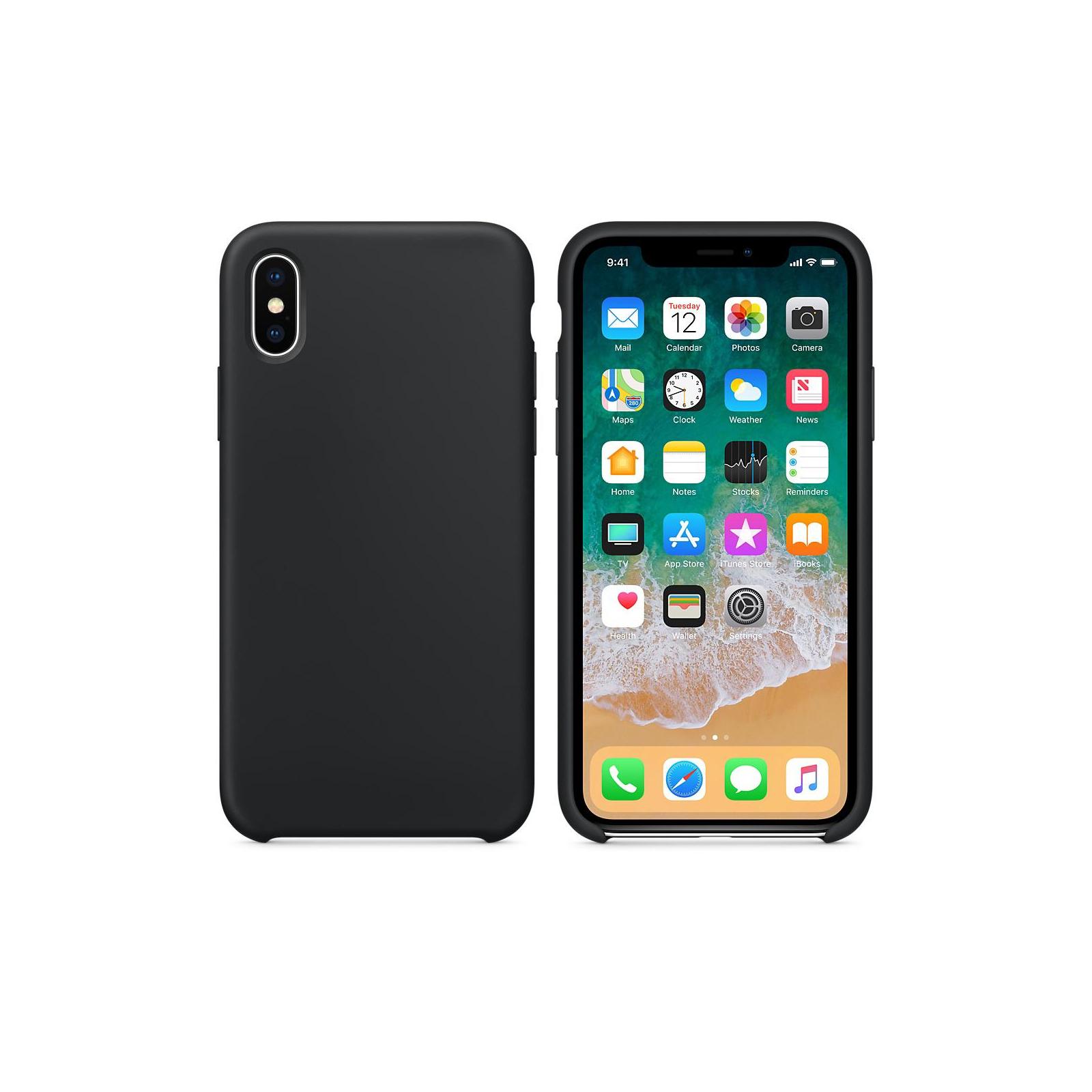 Чехол для моб. телефона Laudtec для iPhone X/XS liquid case (black) (LT-IXLC) изображение 2