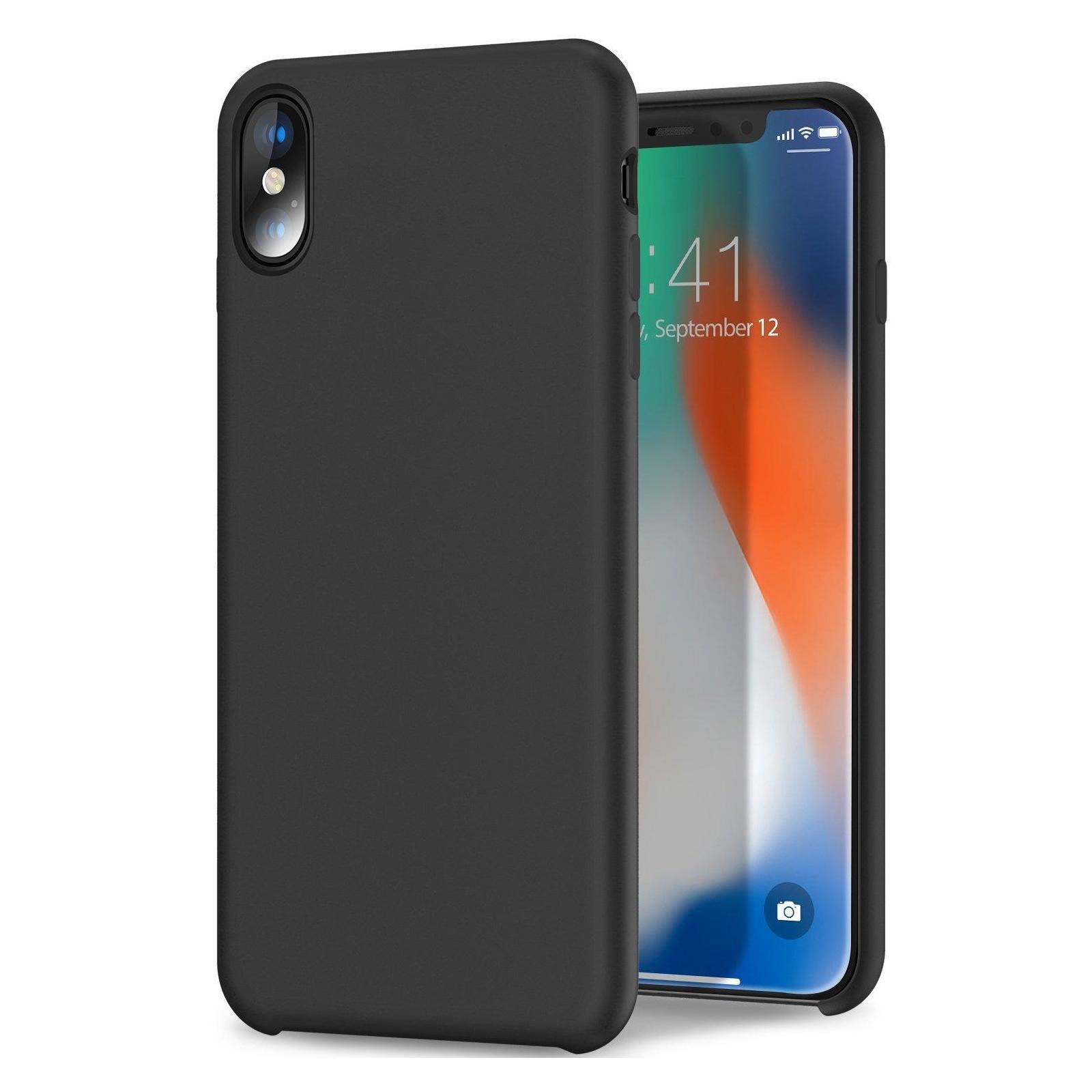 Чехол для моб. телефона Laudtec для iPhone X/XS liquid case (black) (LT-IXLC)
