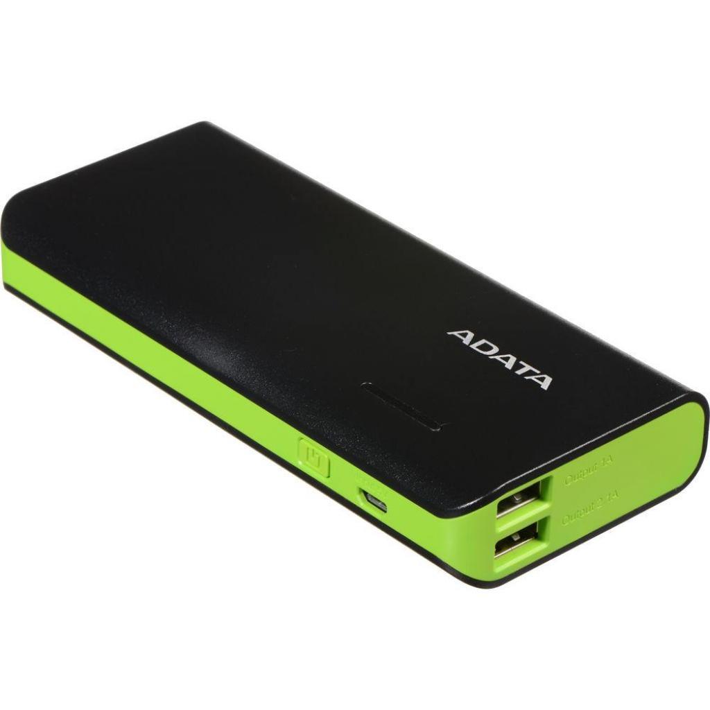 Батарея универсальная ADATA PT100 10000mAh Black-Green (APT100-10000M-5V-CBKGR) изображение 4