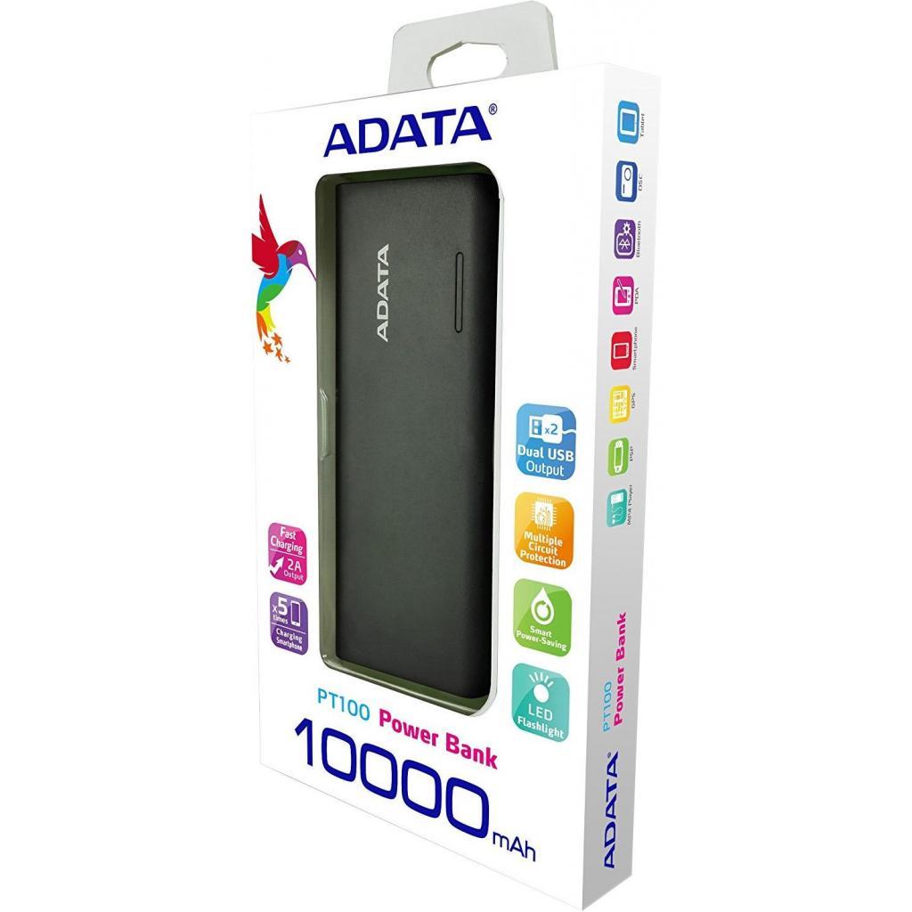 Батарея универсальная ADATA PT100 10000mAh Black-Green (APT100-10000M-5V-CBKGR) изображение 7