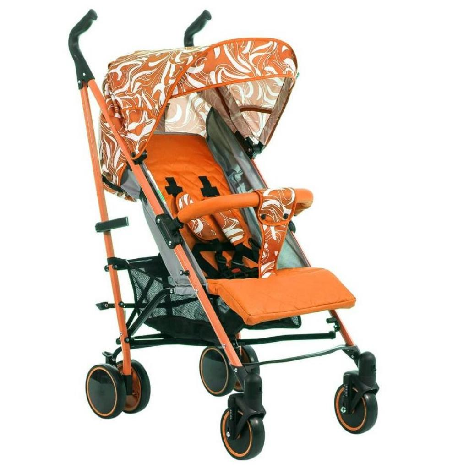 Коляска BabyHit Handy White-orange (22740)