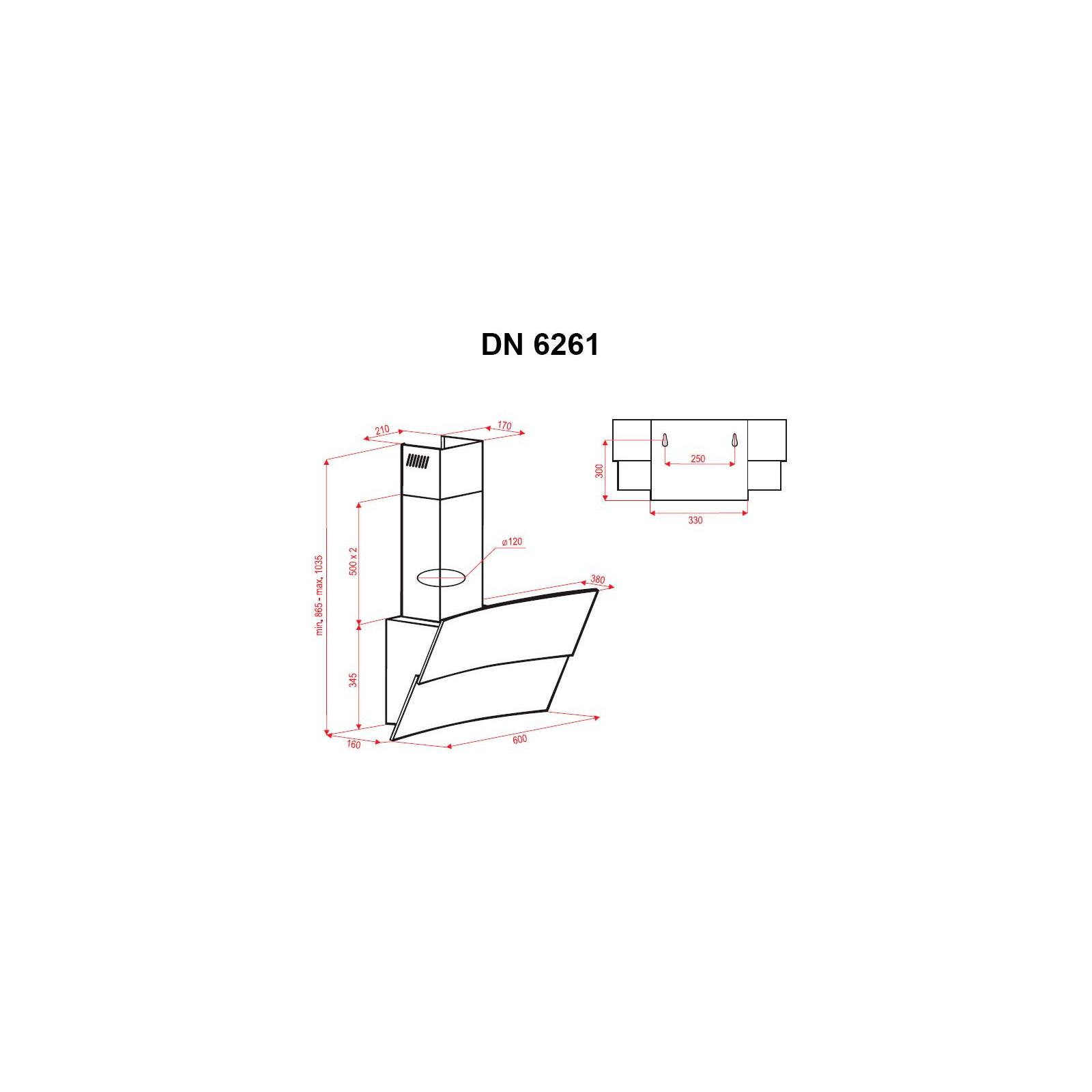Вытяжка кухонная PERFELLI DN 6261 W изображение 7