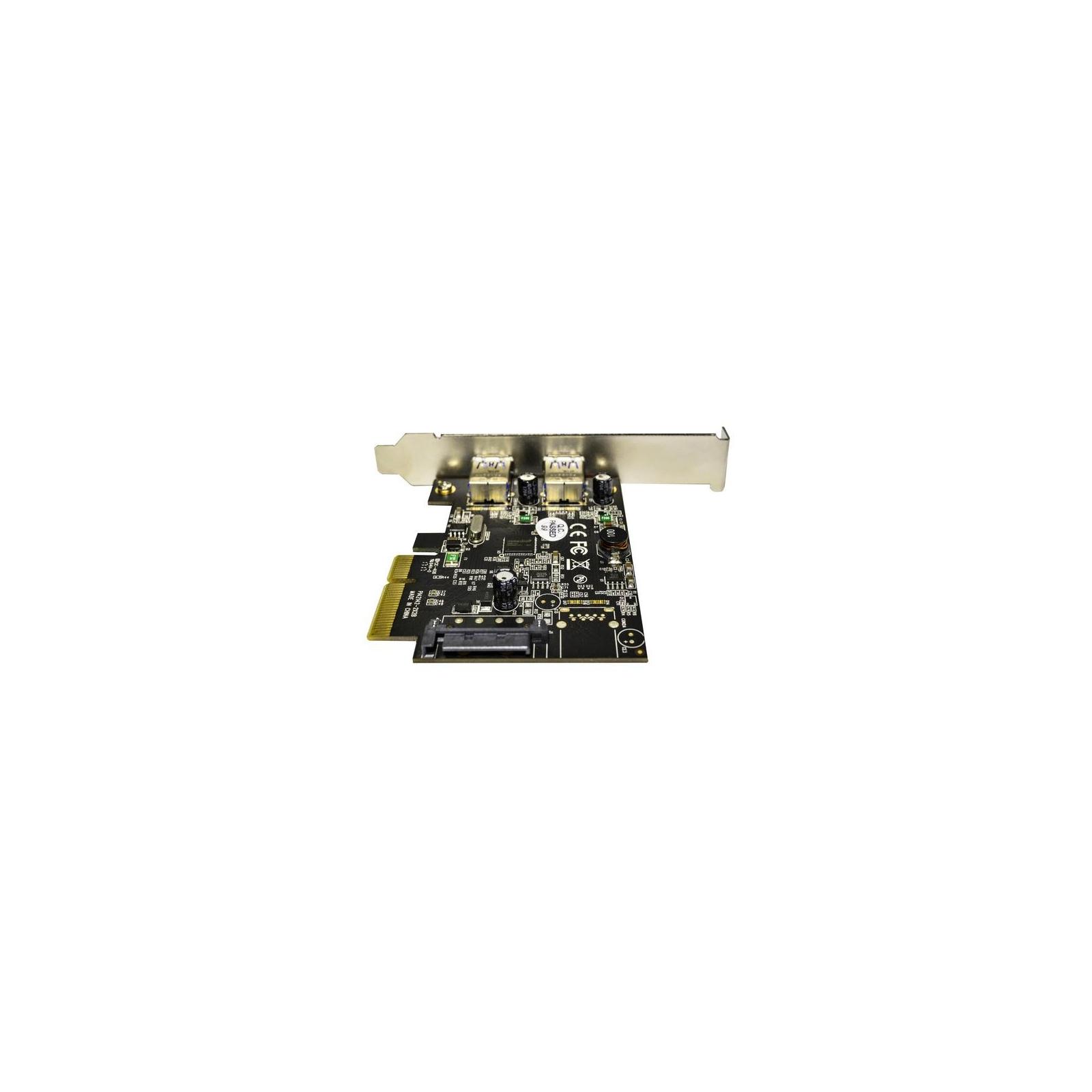 Контроллер PCI to USB3.1 Gen2 2xType-A PCI-E Gen-III x2+планка Low Prof ST-Lab (U-1640) изображение 2