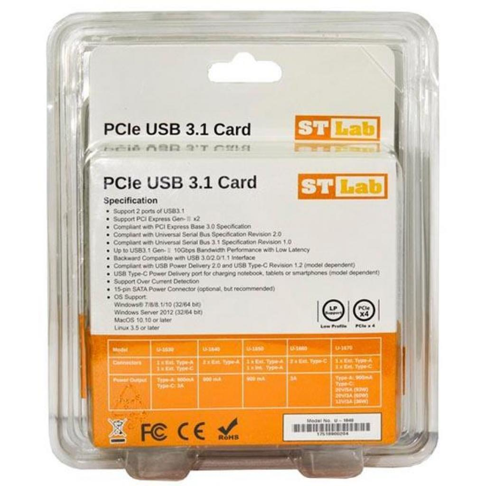 Контроллер PCI to USB3.1 Gen2 2xType-A PCI-E Gen-III x2+планка Low Prof ST-Lab (U-1640) изображение 6