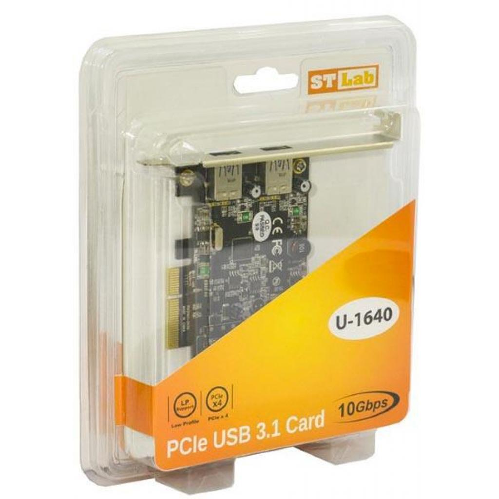 Контроллер PCI to USB3.1 Gen2 2xType-A PCI-E Gen-III x2+планка Low Prof ST-Lab (U-1640) изображение 7