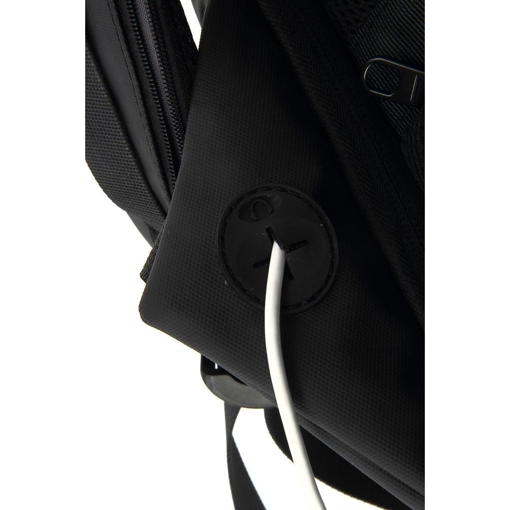 """Рюкзак для ноутбука DEF 15.6"""" DW-01 anti-theft black (378536) изображение 11"""